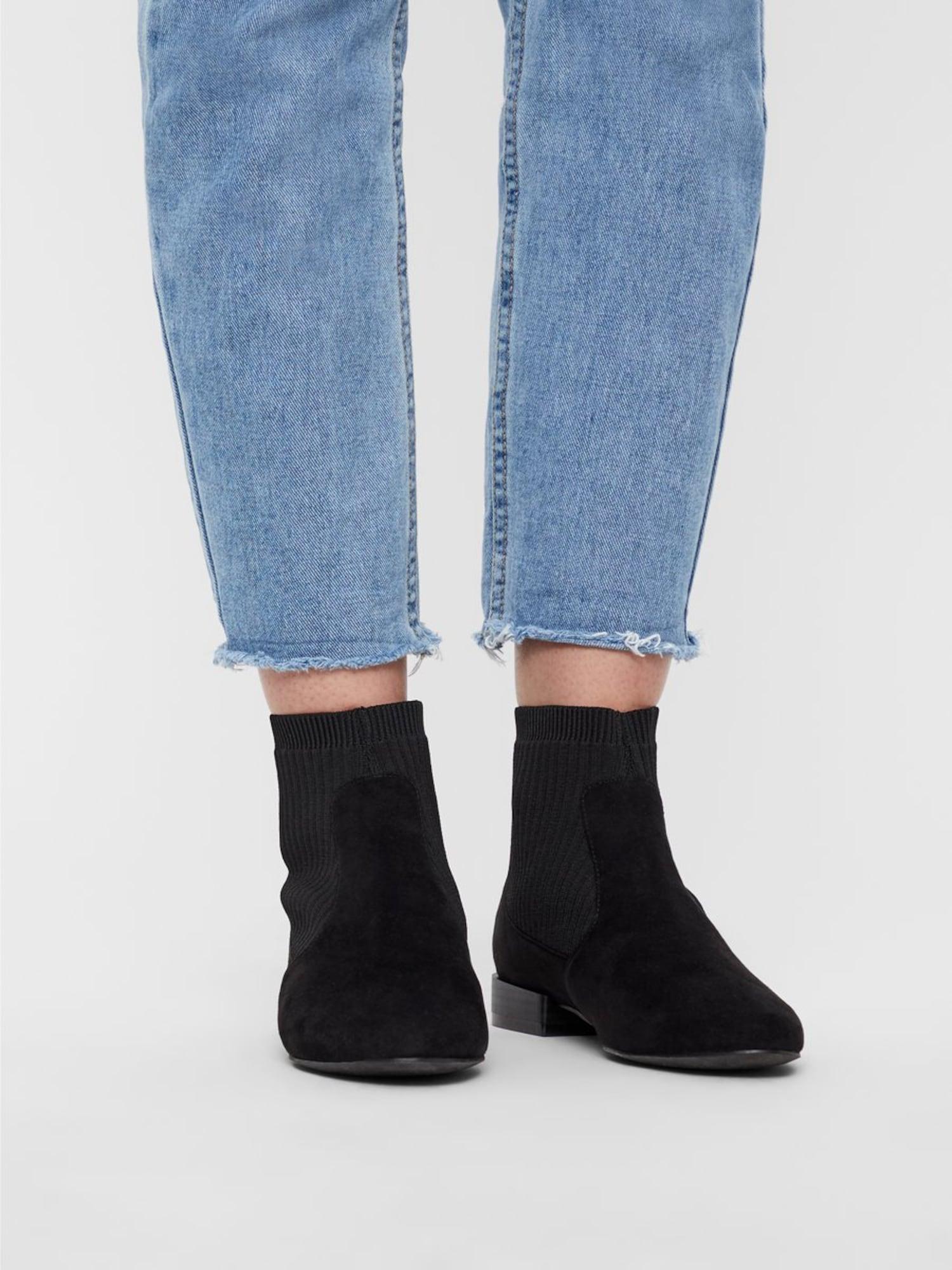 Bianco, Damen Chelsea boots Anne, basaltgrijs / zwart