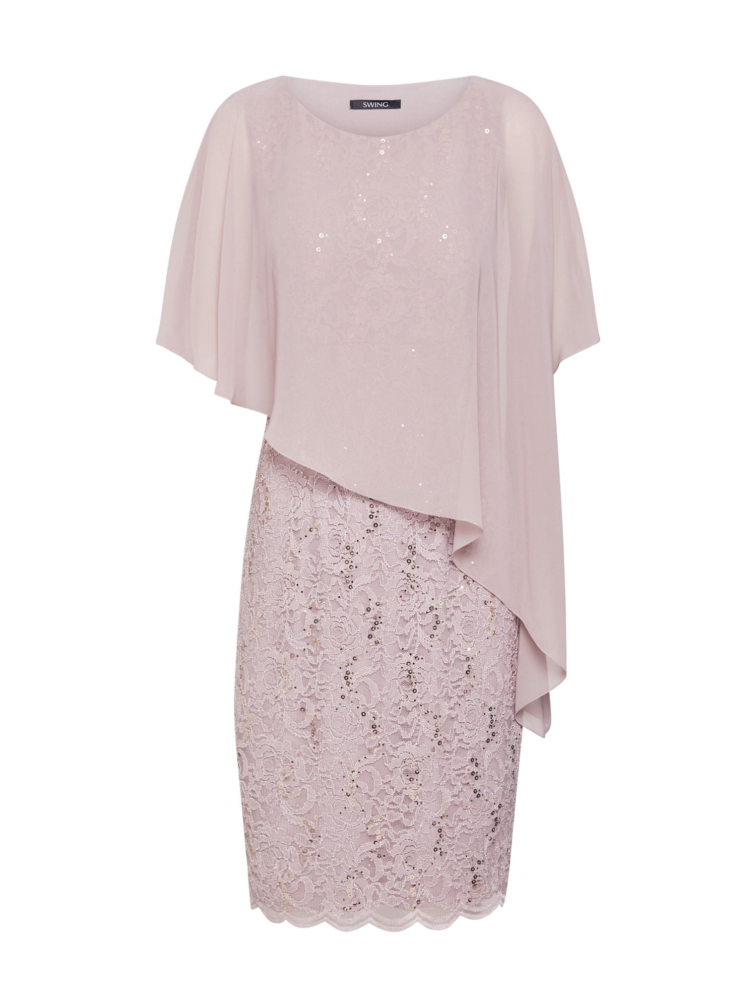 SWING Kokteilinė suknelė rausvai pilka / ryškiai rožinė spalva