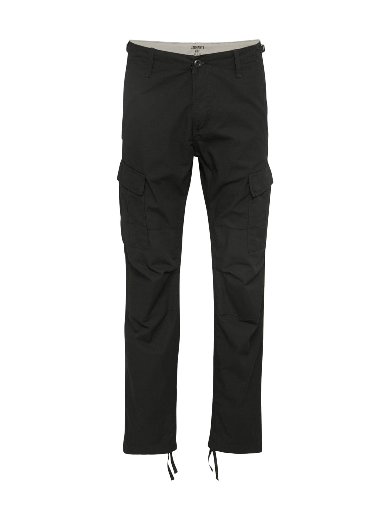 Carhartt WIP Laisvo stiliaus kelnės 'Aviation Pant' juoda