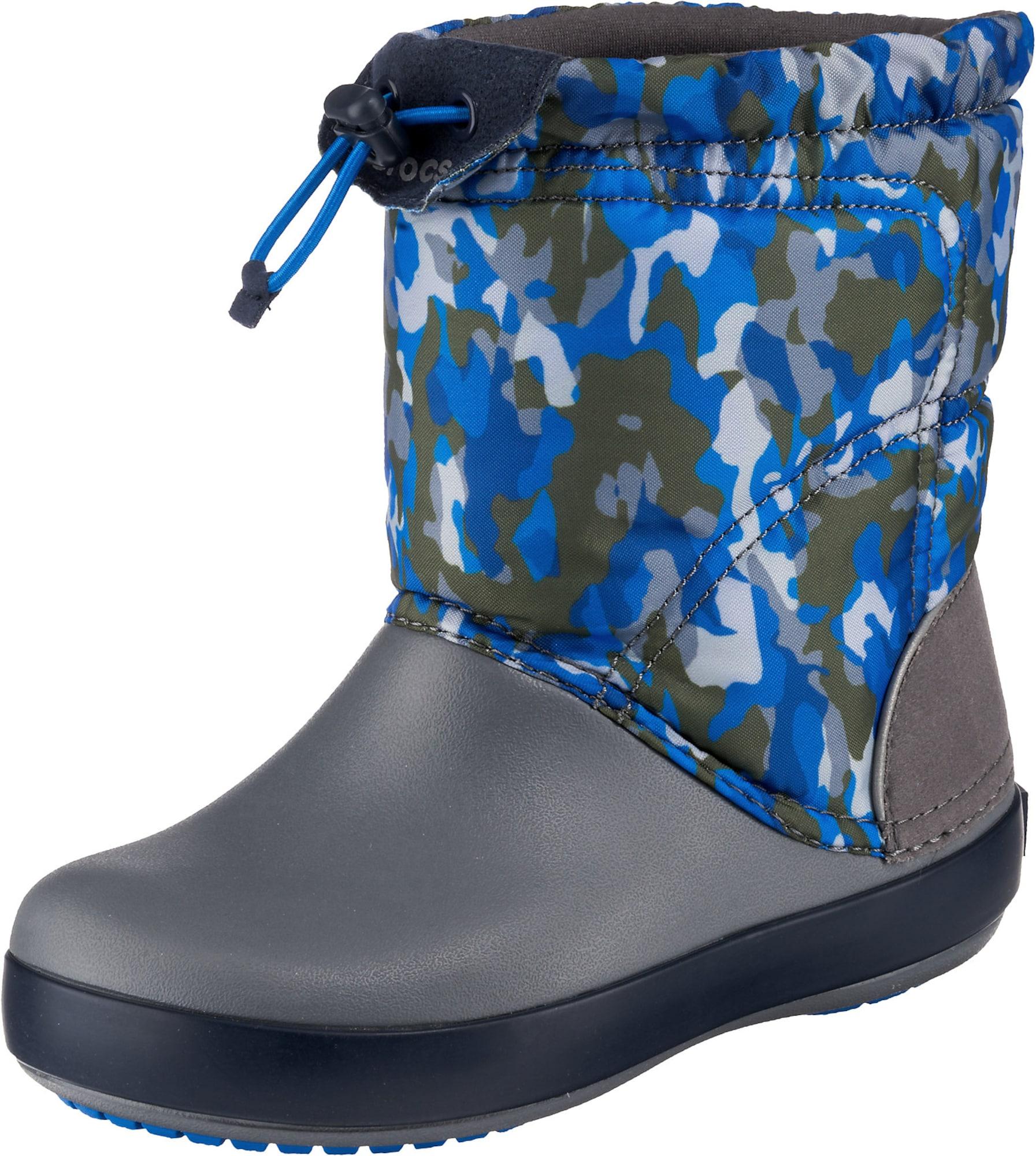Crocs Sniego batai rusvai žalia / natūrali balta / mėlyna / pilka