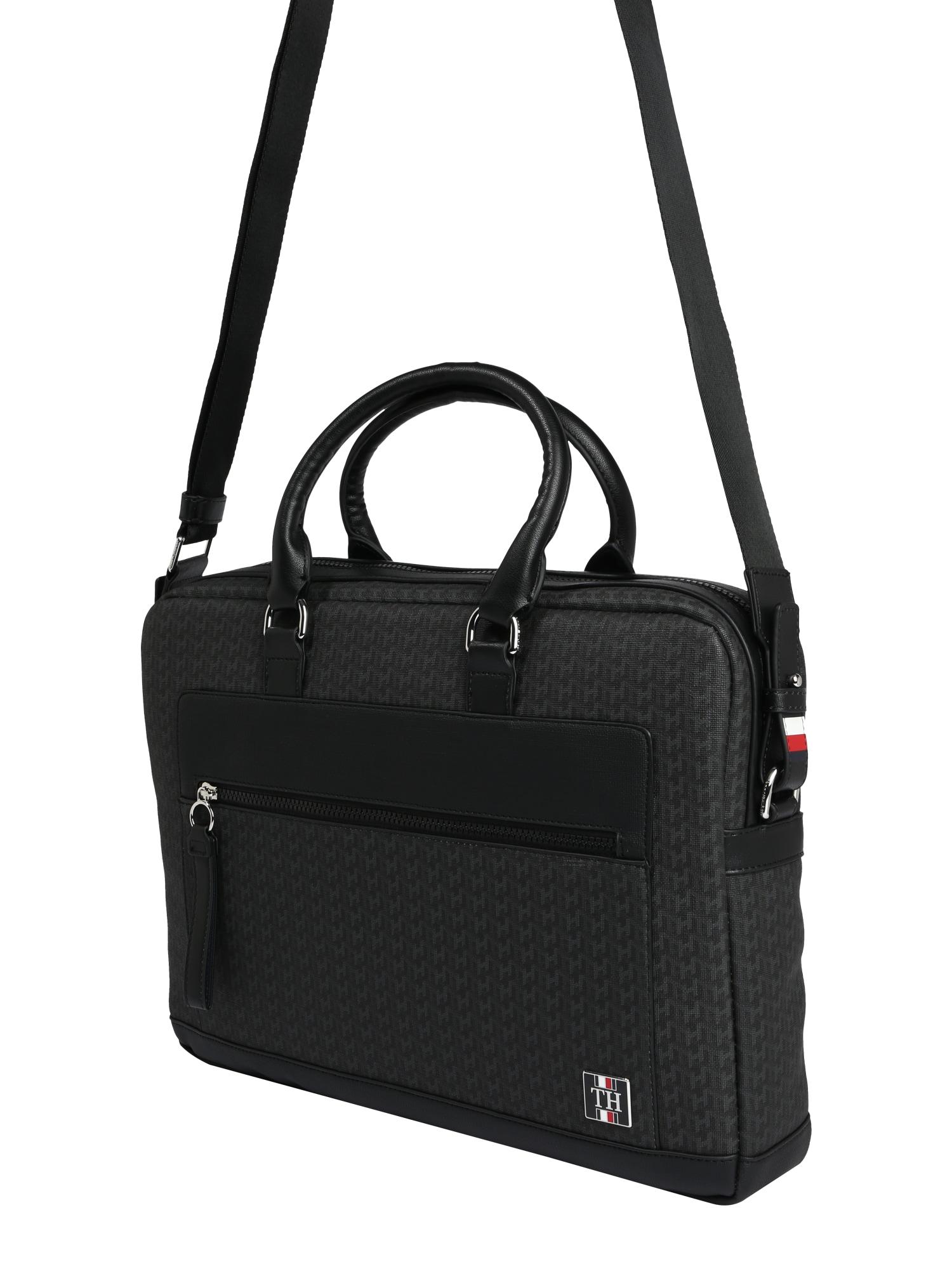 TOMMY HILFIGER Nešiojamojo kompiuterio krepšys 'COATED CANVAS' juoda
