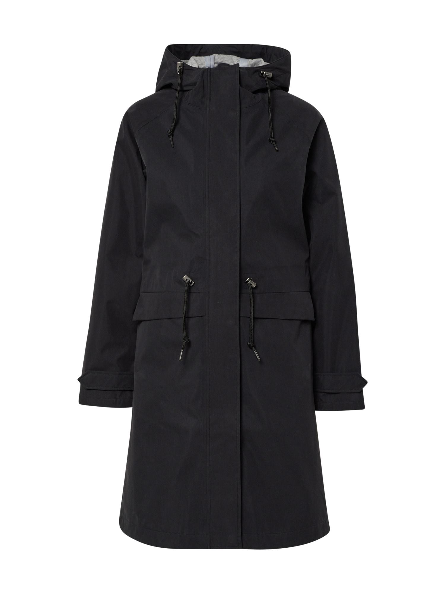 Derbe Rudeninis-žieminis paltas 'City Break' juoda / antracito
