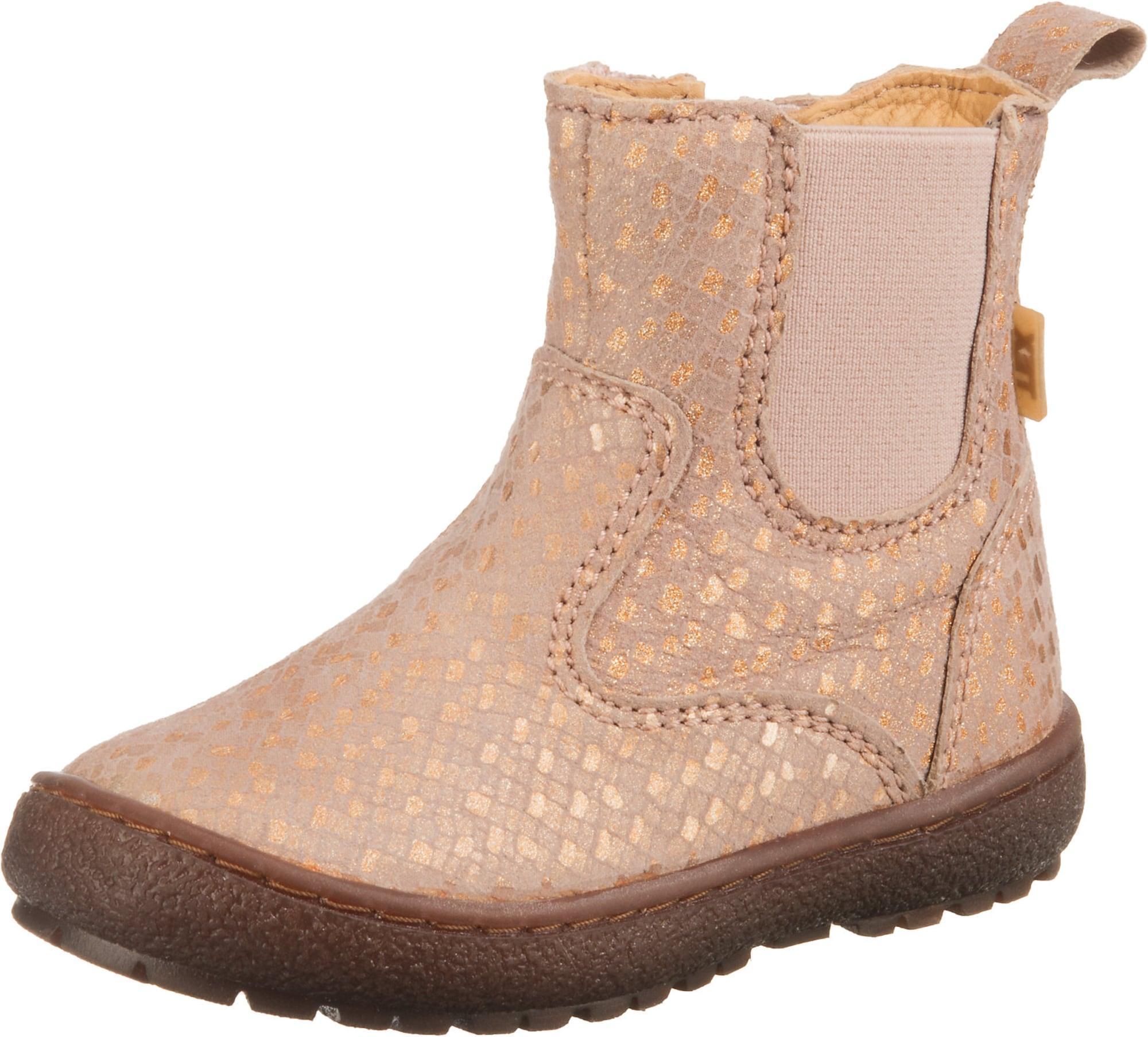 BISGAARD Auliniai batai su kulniuku smėlio / auksas / rožių spalva