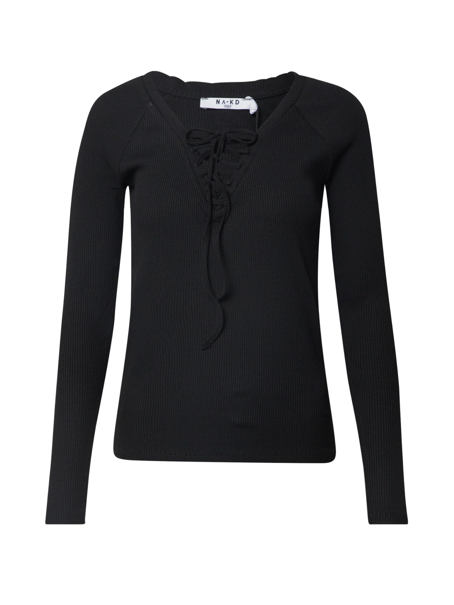 NA-KD Marškinėliai juoda