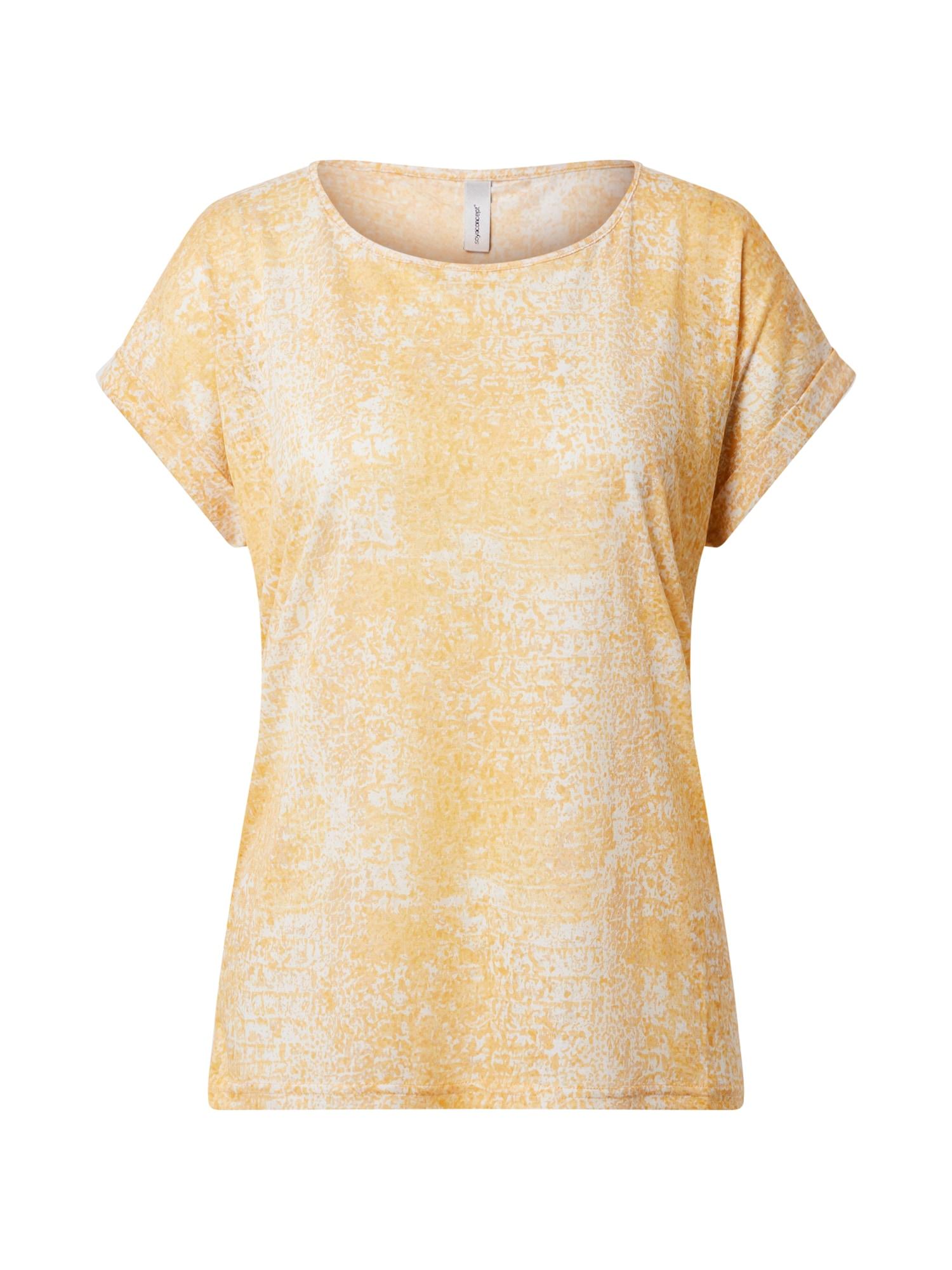 Soyaconcept Tričko  žlté / biela
