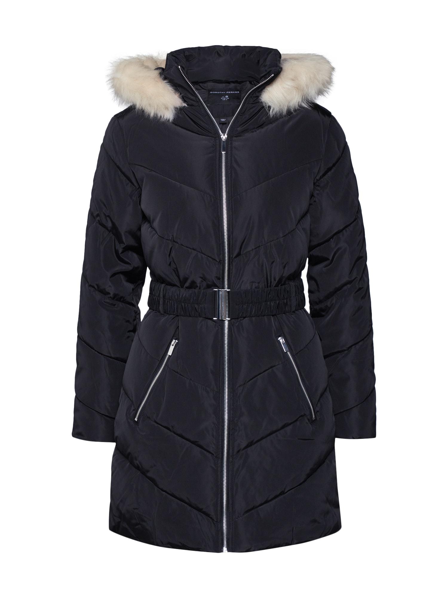 Dorothy Perkins Žieminis paltas juoda