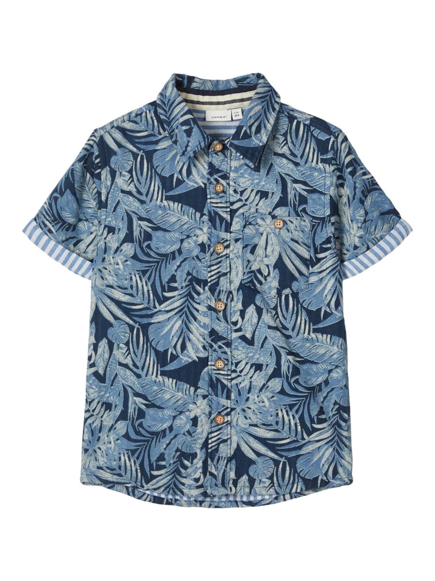 NAME IT Dalykiniai marškiniai mišrios spalvos / mėlyna
