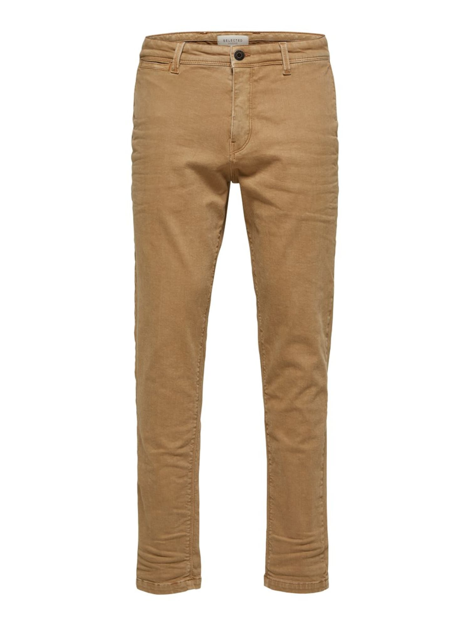 SELECTED HOMME Chino nohavice  žltohnedý