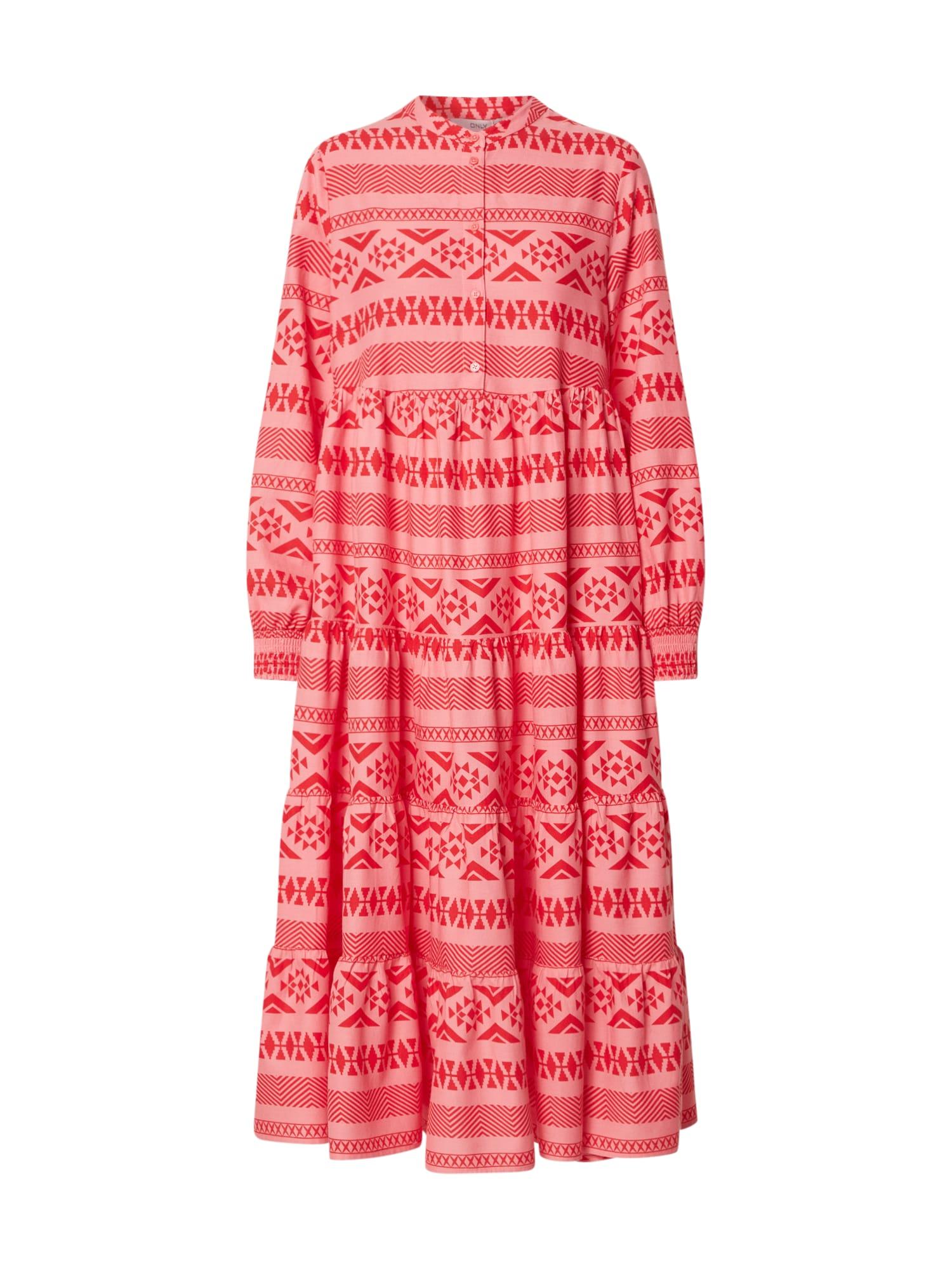 ONLY Košilové šaty 'ONLLUCCA'  růžová / červená