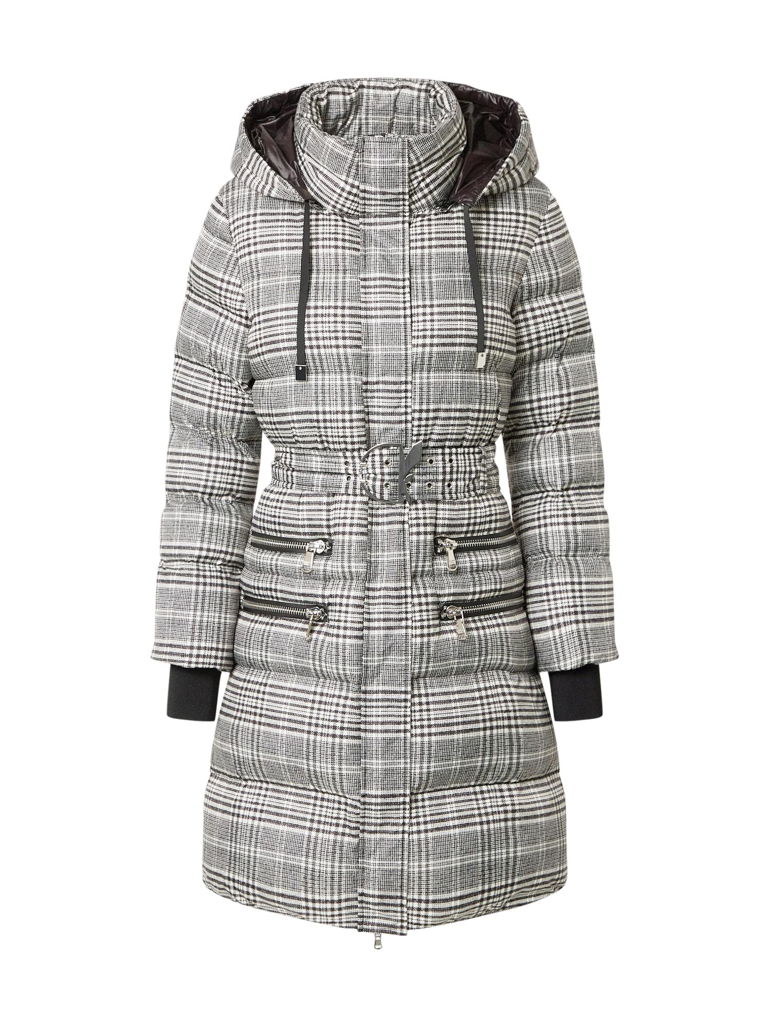 PATRIZIA PEPE Zimní bunda 'Piumino'  bílá / černá