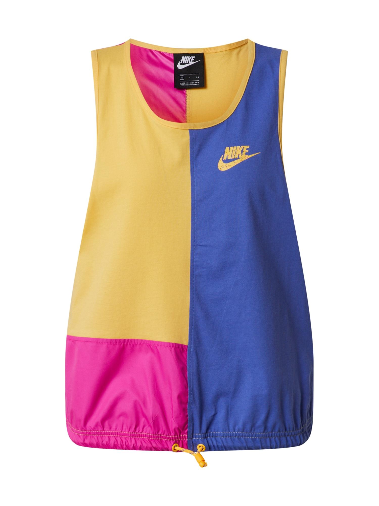 Nike Sportswear Palaidinė be rankovių purpurinė / rožinė / geltona