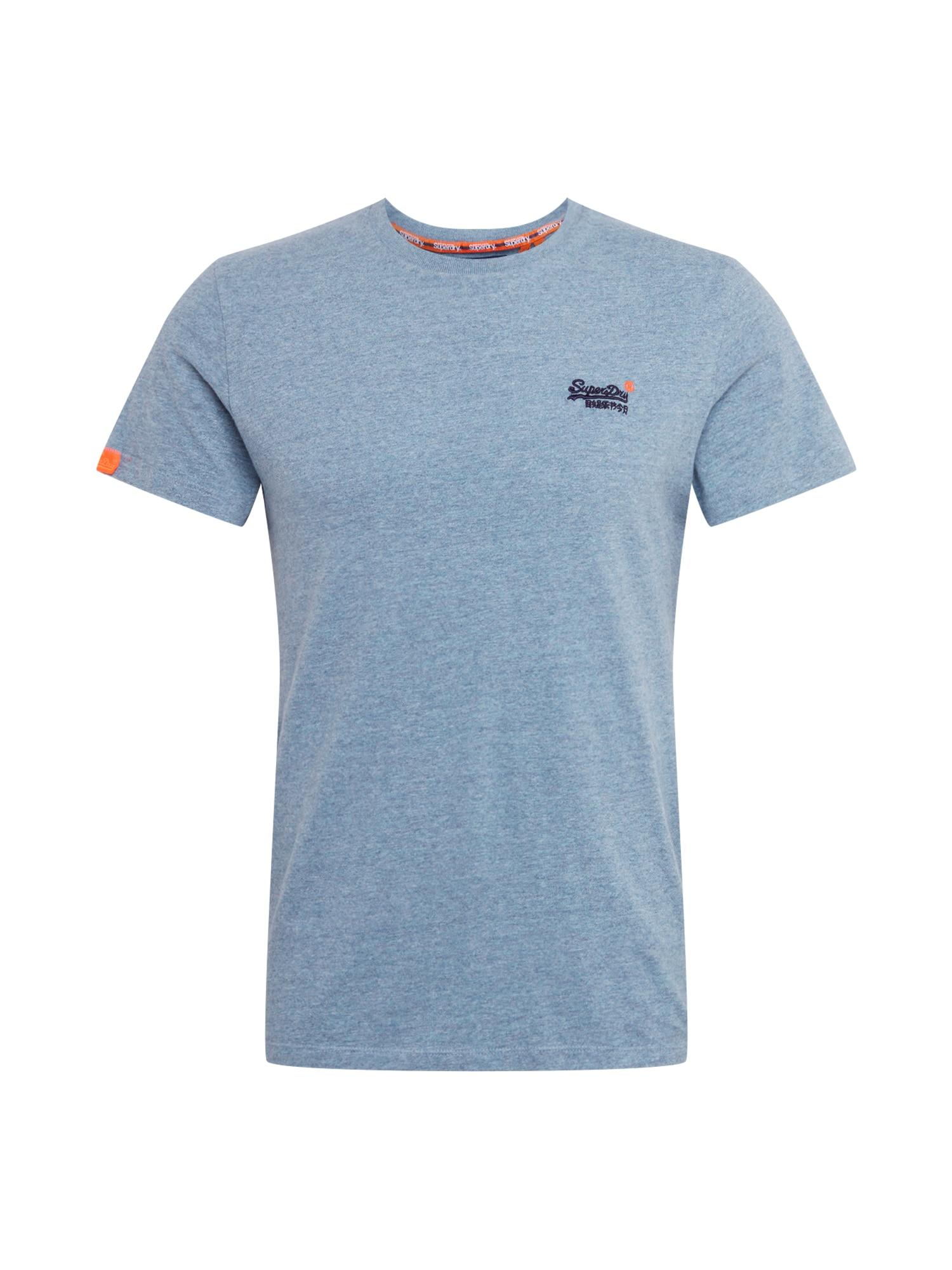 Superdry Marškinėliai šviesiai mėlyna / oranžinė / tamsiai mėlyna