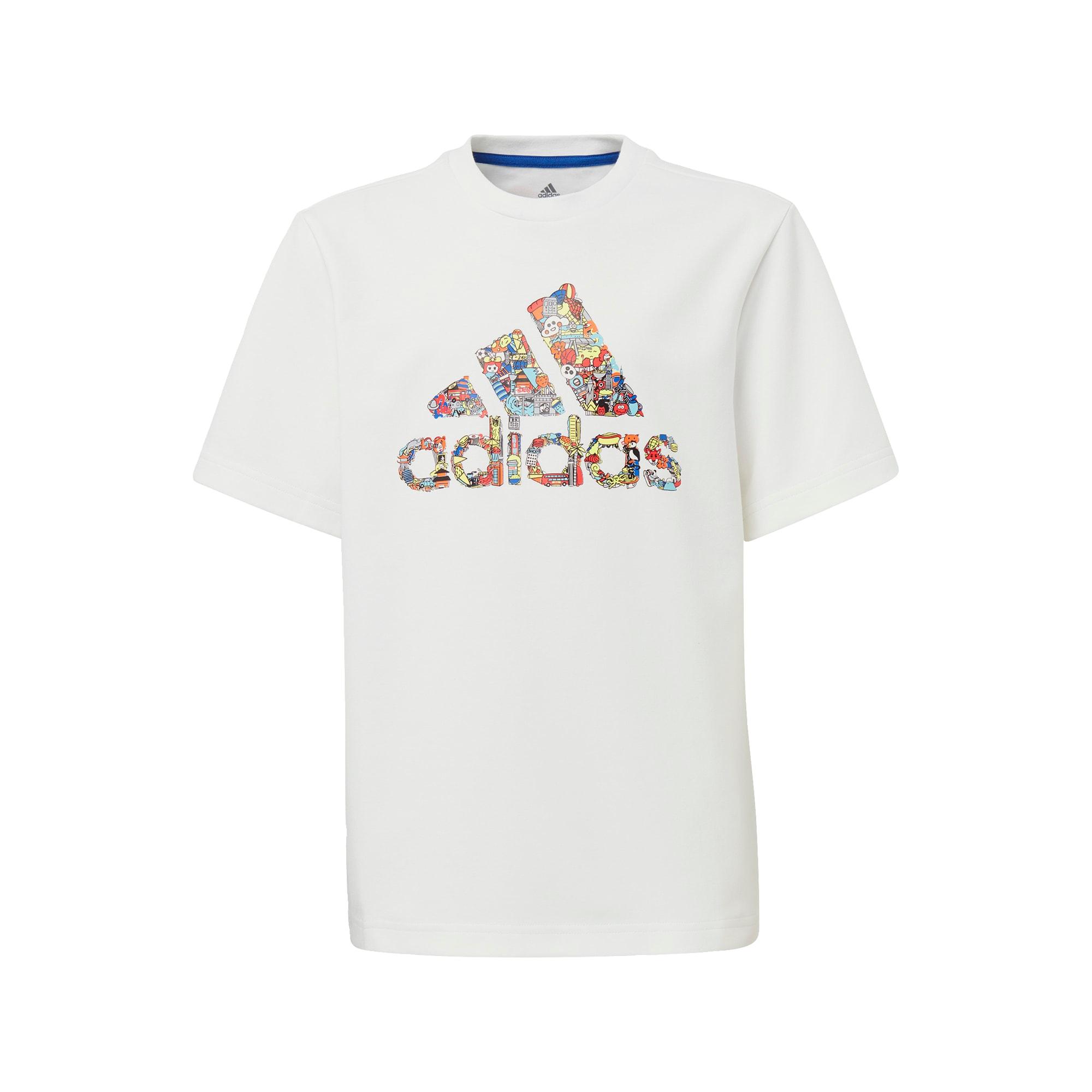 ADIDAS PERFORMANCE Sportiniai marškinėliai balta / mišrios spalvos