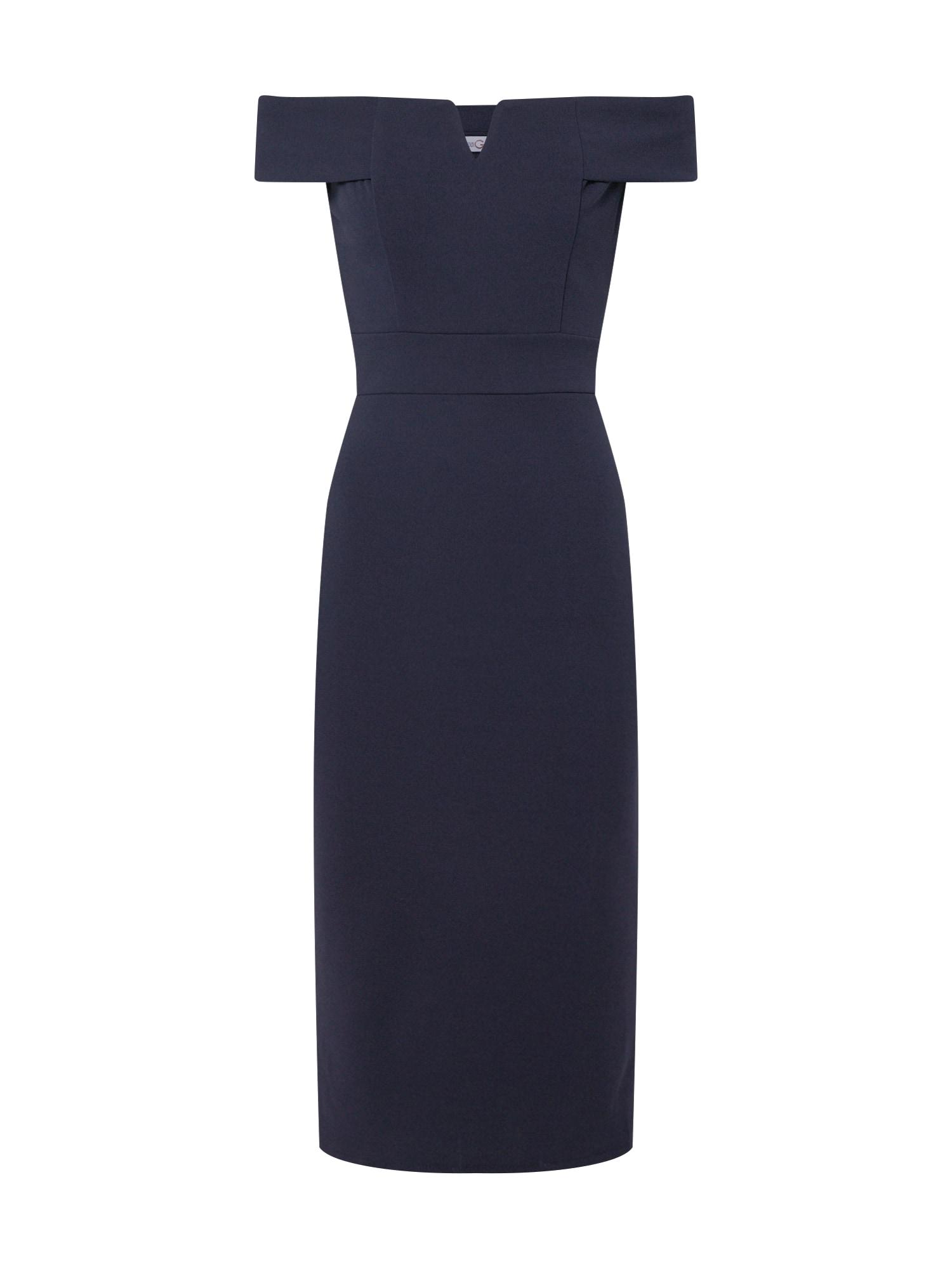 WAL G. Trumpa kokteilinė suknelė tamsiai mėlyna