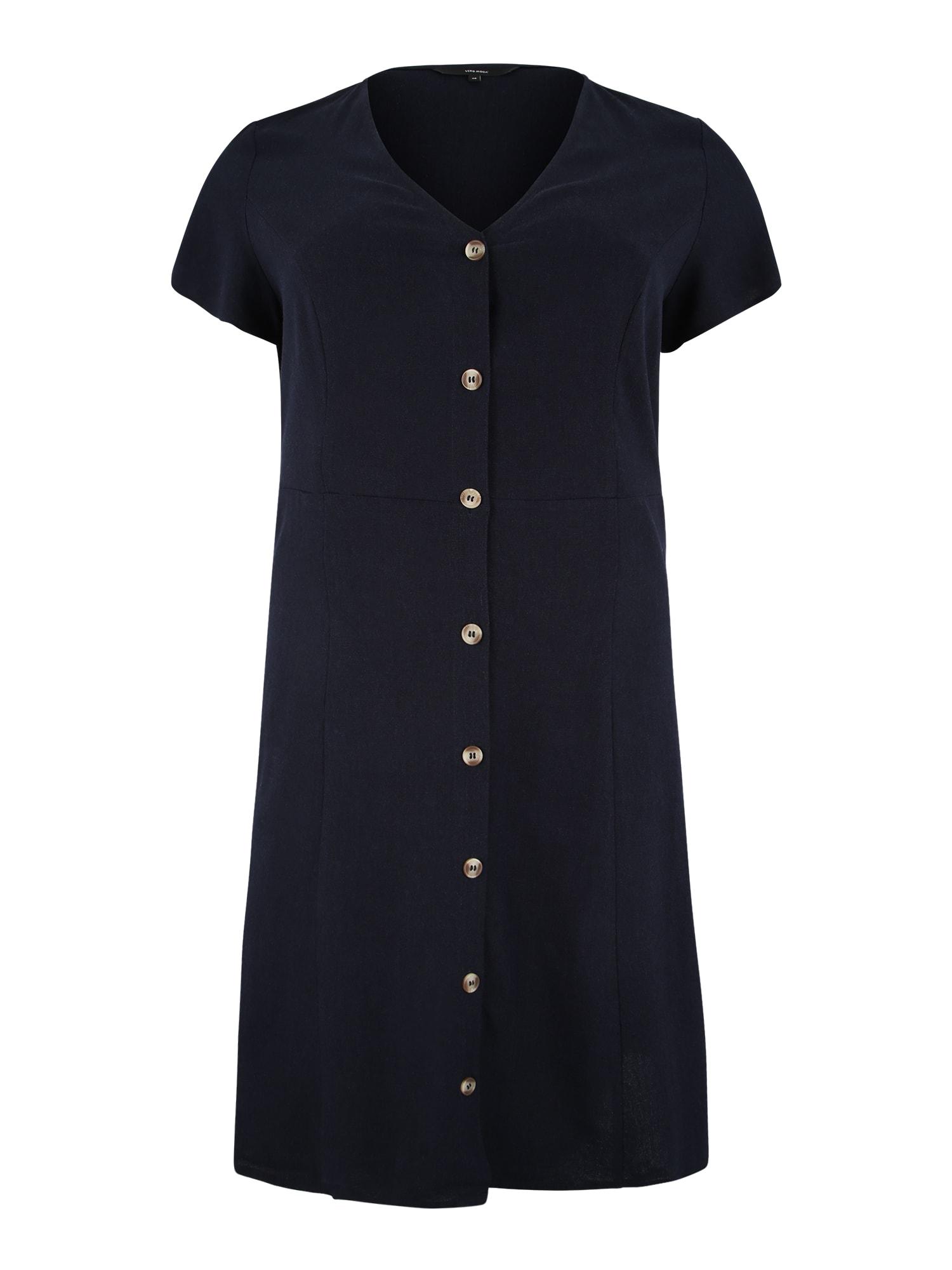 Šaty ANNA MILO noční modrá Vero Moda Curve