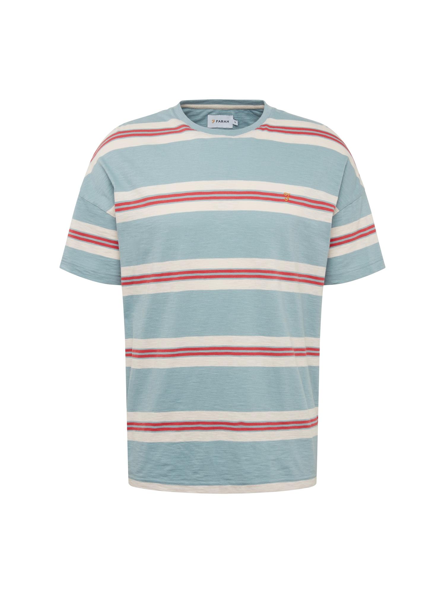 Tričko ELKIN kouřově modrá červená bílá FARAH