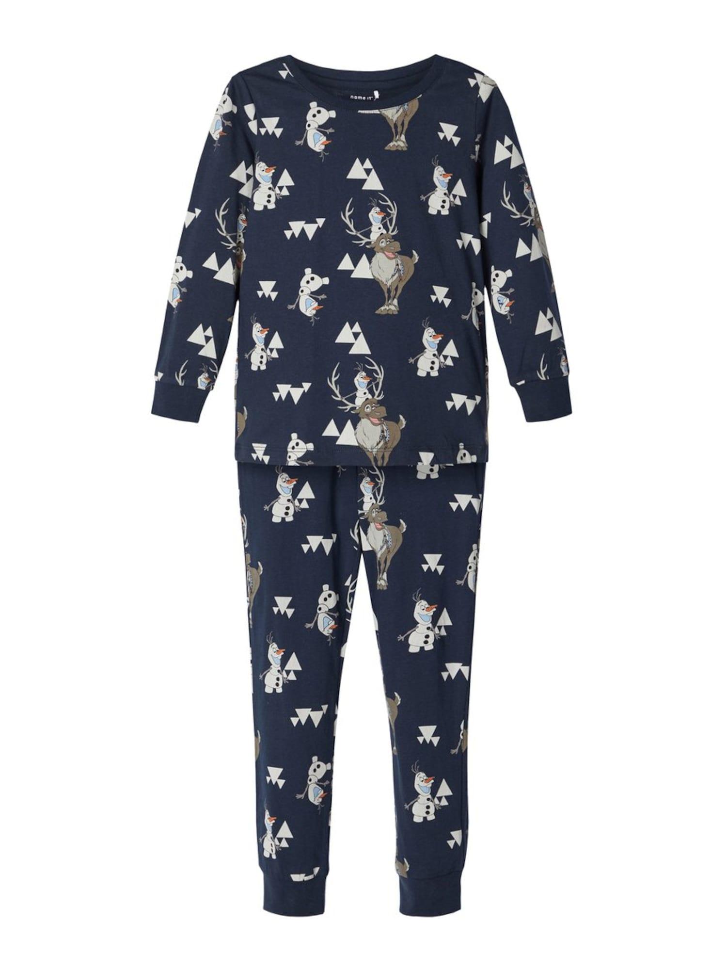 NAME IT Miego kostiumas 'Disney Olaf' tamsiai mėlyna / mišrios spalvos