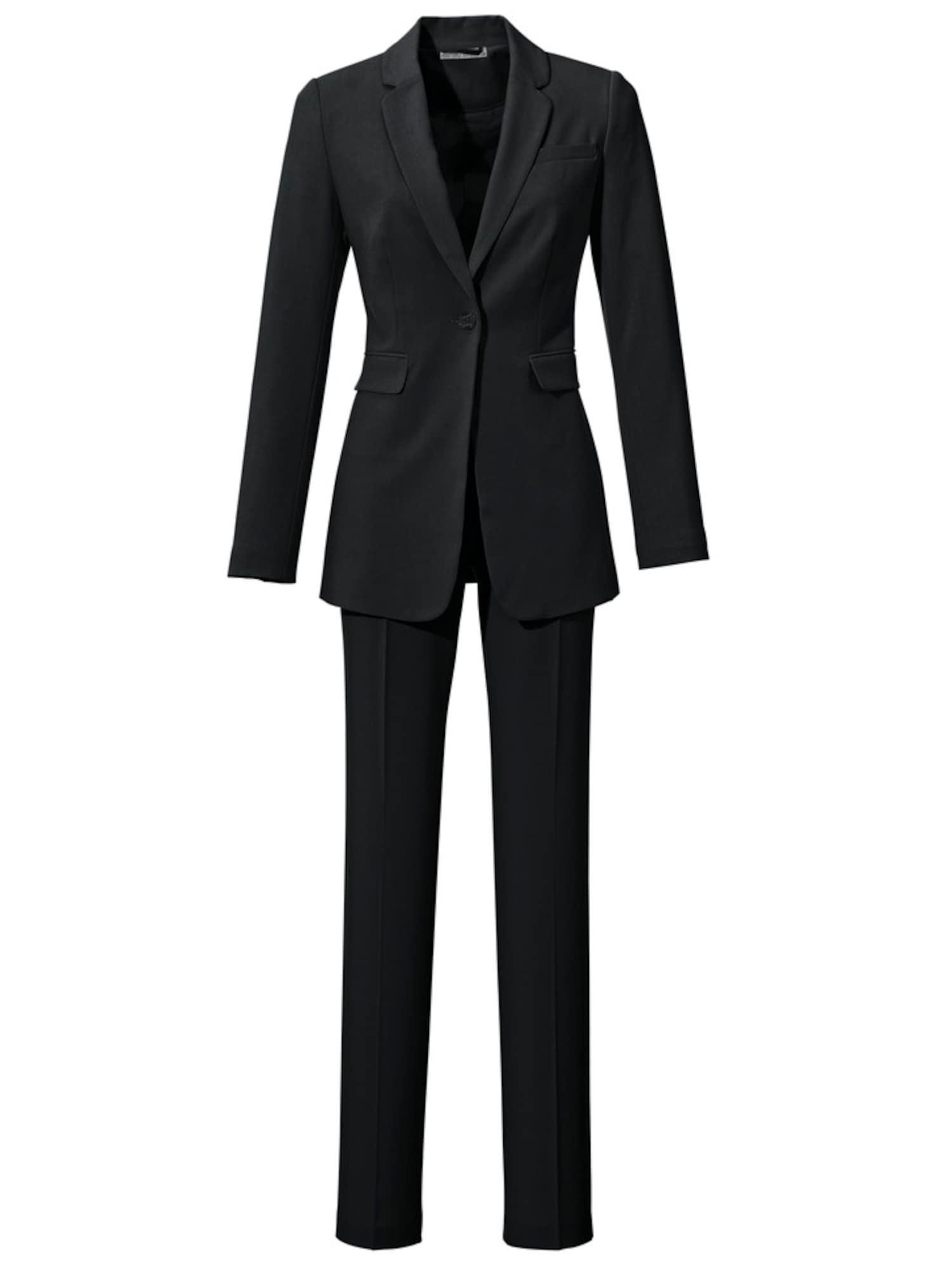 heine Moteriškas kostiumėlis su kelnėmis juoda