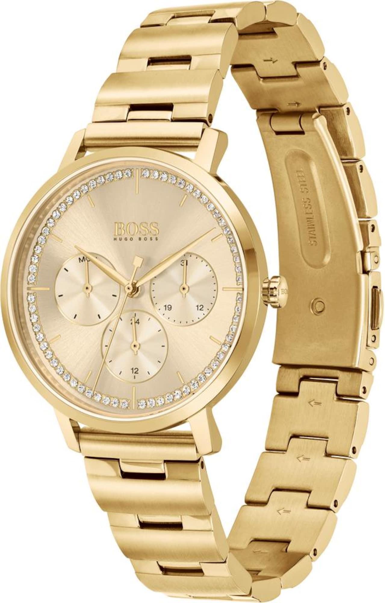 BOSS Analoginis (įprasto dizaino) laikrodis 'PRIMA' auksas / balta