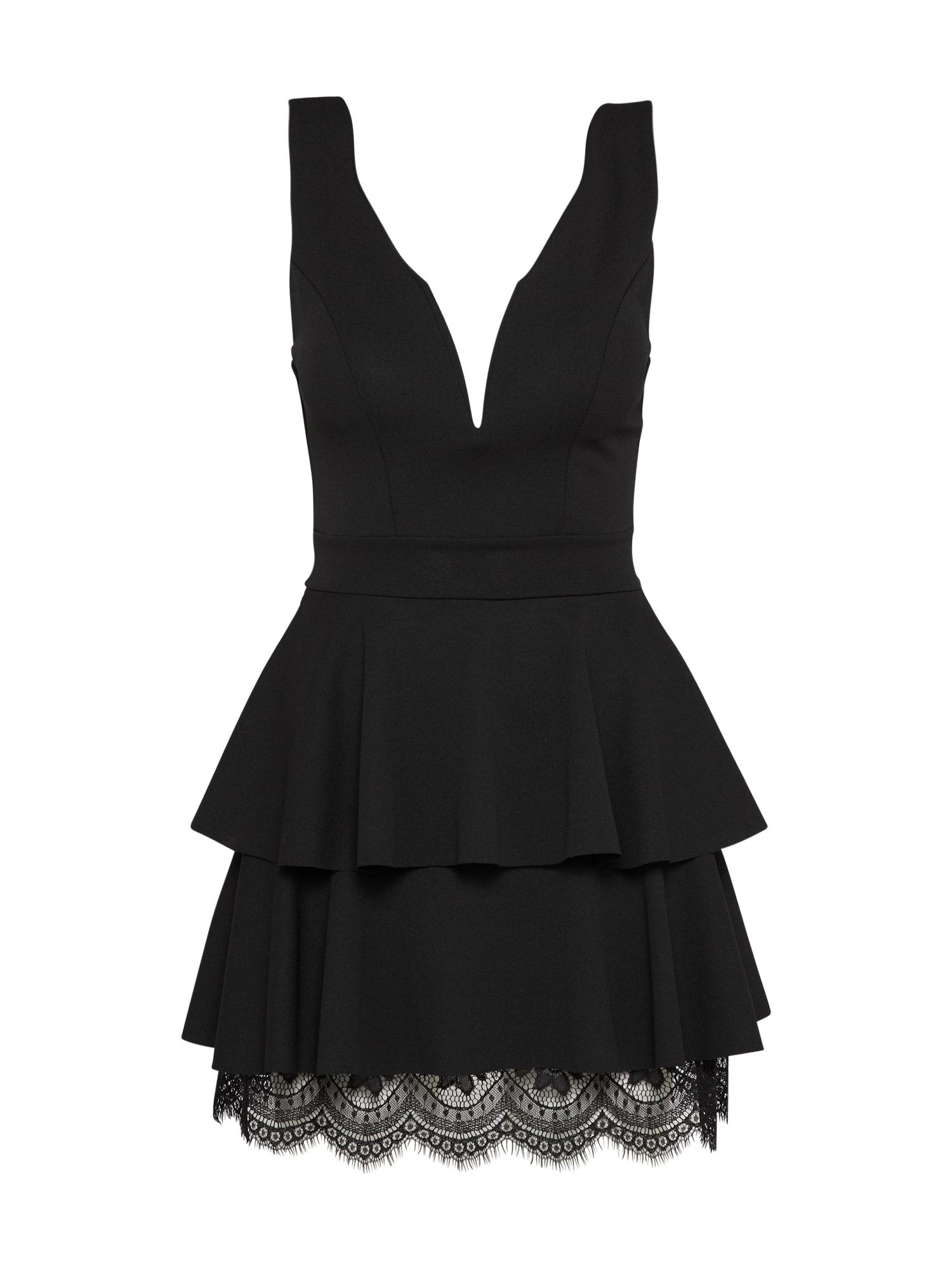 WAL G. Kokteilinė suknelė juoda