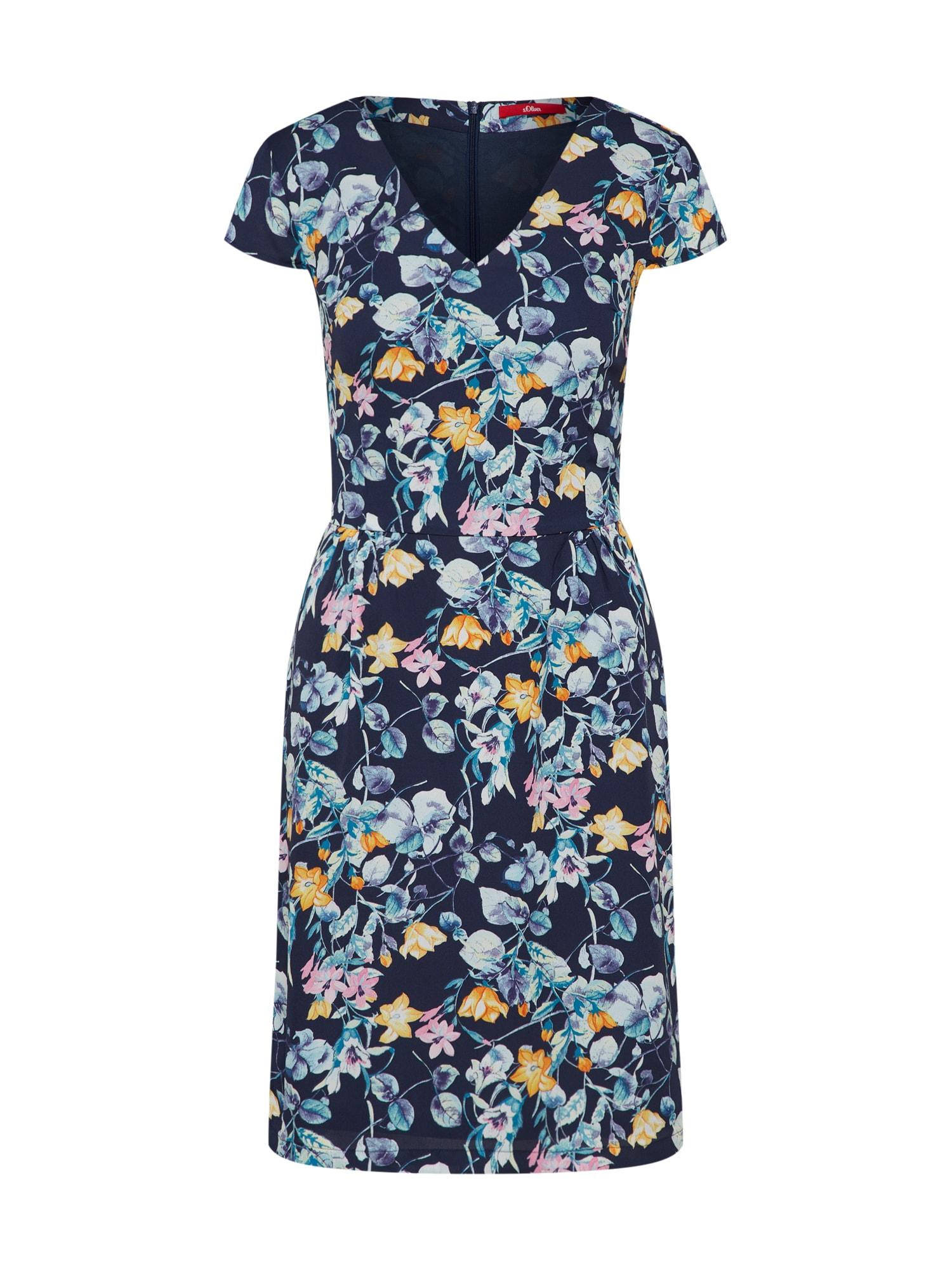 s.Oliver Letní šaty  modrá / mix barev