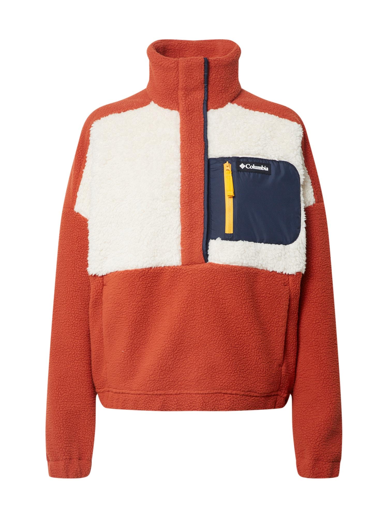 COLUMBIA Megztinis 'Sherpa' mėlyna / tamsiai oranžinė / balta
