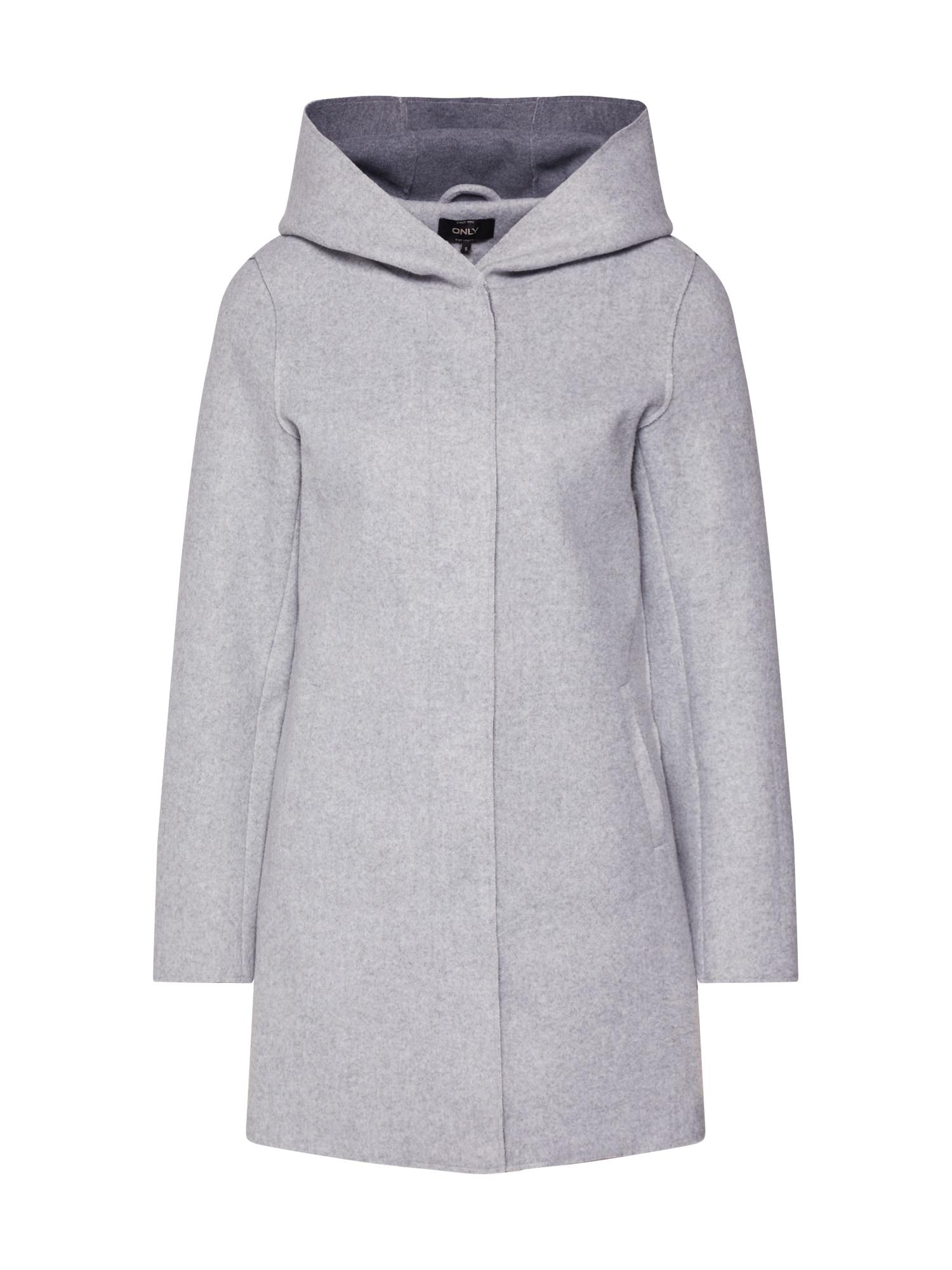 ONLY Rudeninis-žieminis paltas 'ONLSIRI BONDED HOOD COAT' margai pilka