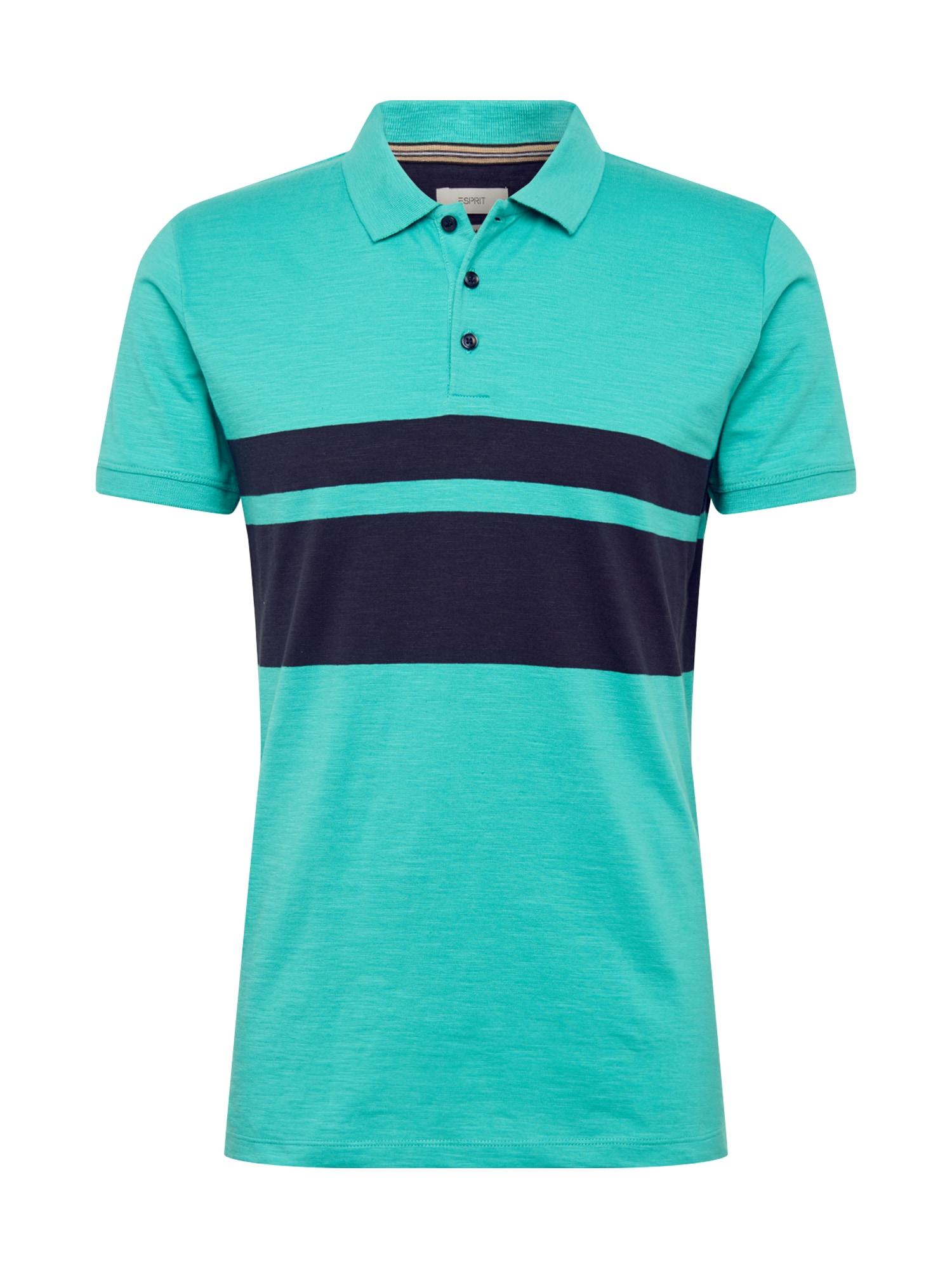 ESPRIT Marškinėliai tamsiai mėlyna / turkio spalva