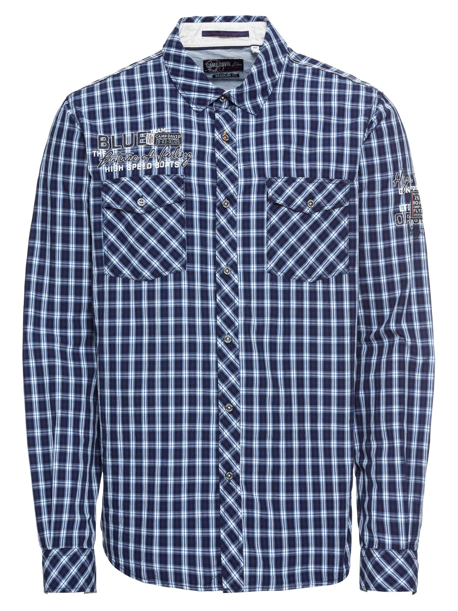 Košile Shirt 11 check námořnická modř bílá CAMP DAVID