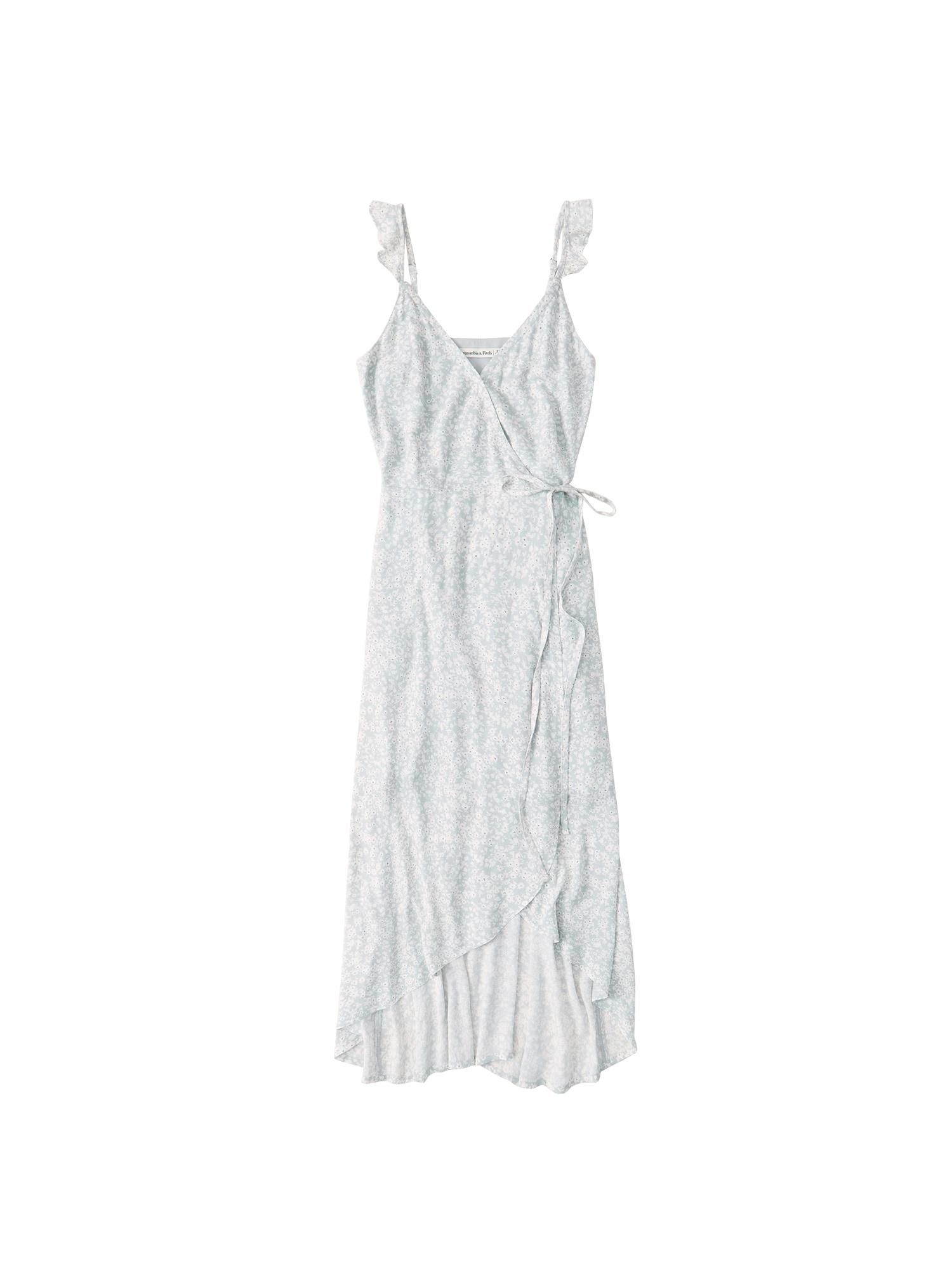 Abercrombie & Fitch Vasarinė suknelė 'CAMI WRAP' balta / mėtų spalva