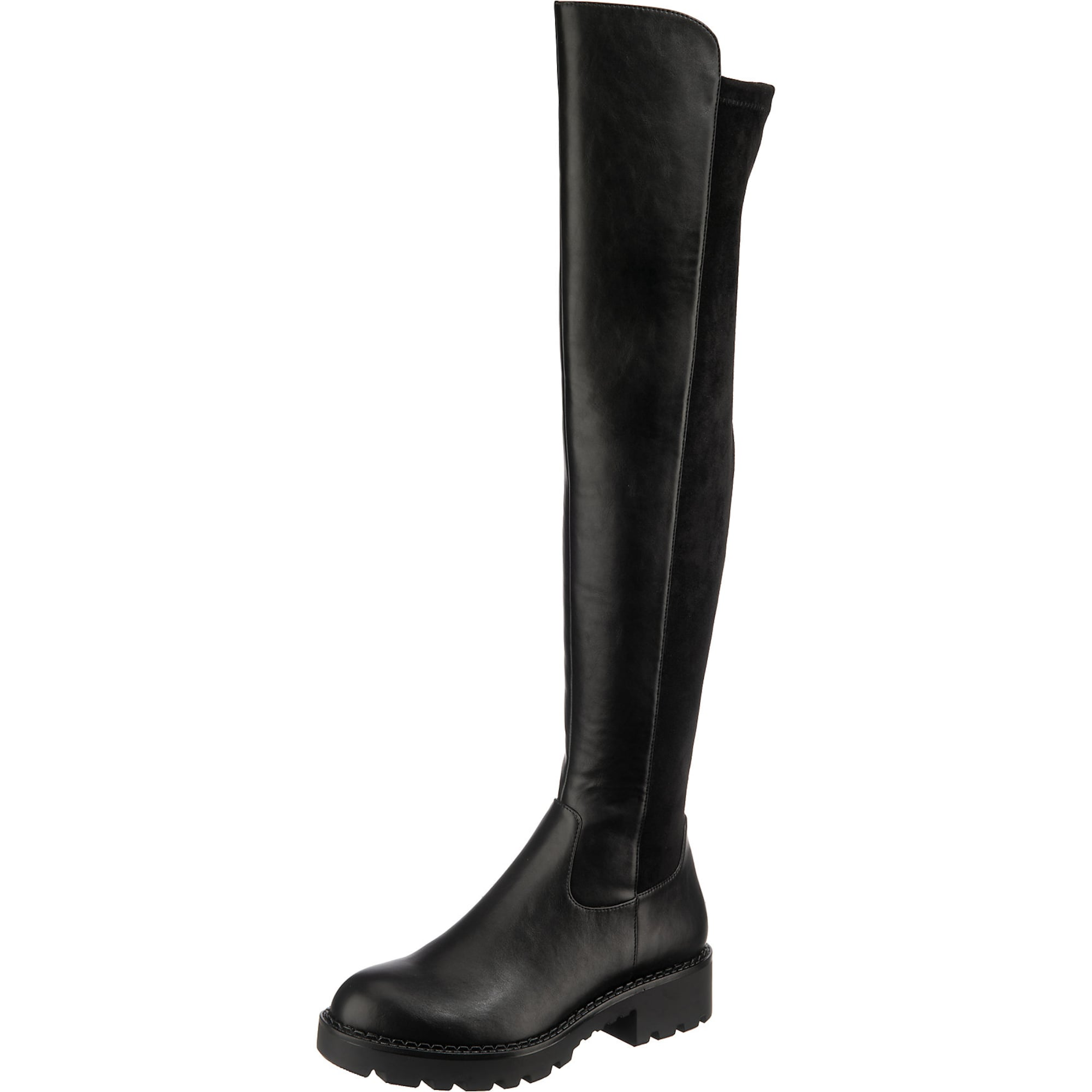 BUFFALO Ilgaauliai batai virš kelių 'MIREYA' juoda