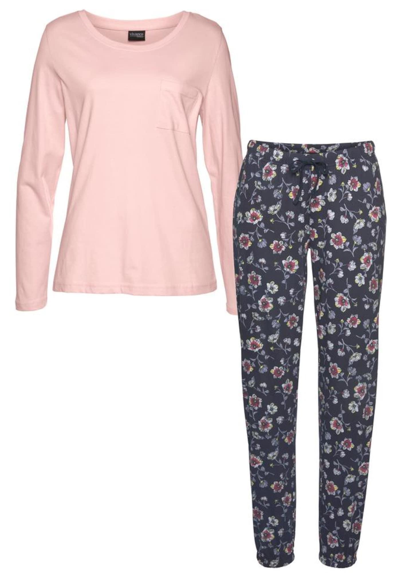 VIVANCE Pižama rožių spalva / mėlyna