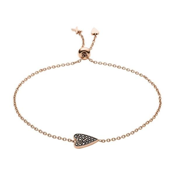 Armbaender für Frauen - FOSSIL Armband 'JF03089791' rosegold schwarz  - Onlineshop ABOUT YOU