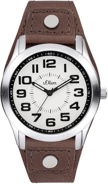 Uhren für Frauen - S.Oliver RED LABEL Quarzuhr ''SO 3383 LQ'' braun silber weiß  - Onlineshop ABOUT YOU