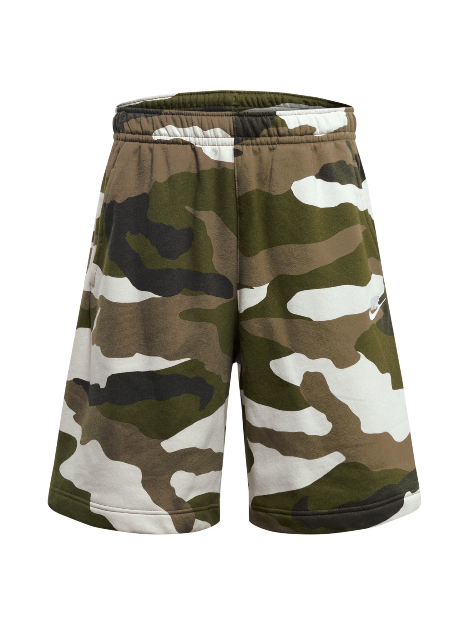 Nike Sportswear Kelnės rusvai žalia / smėlio / žalia