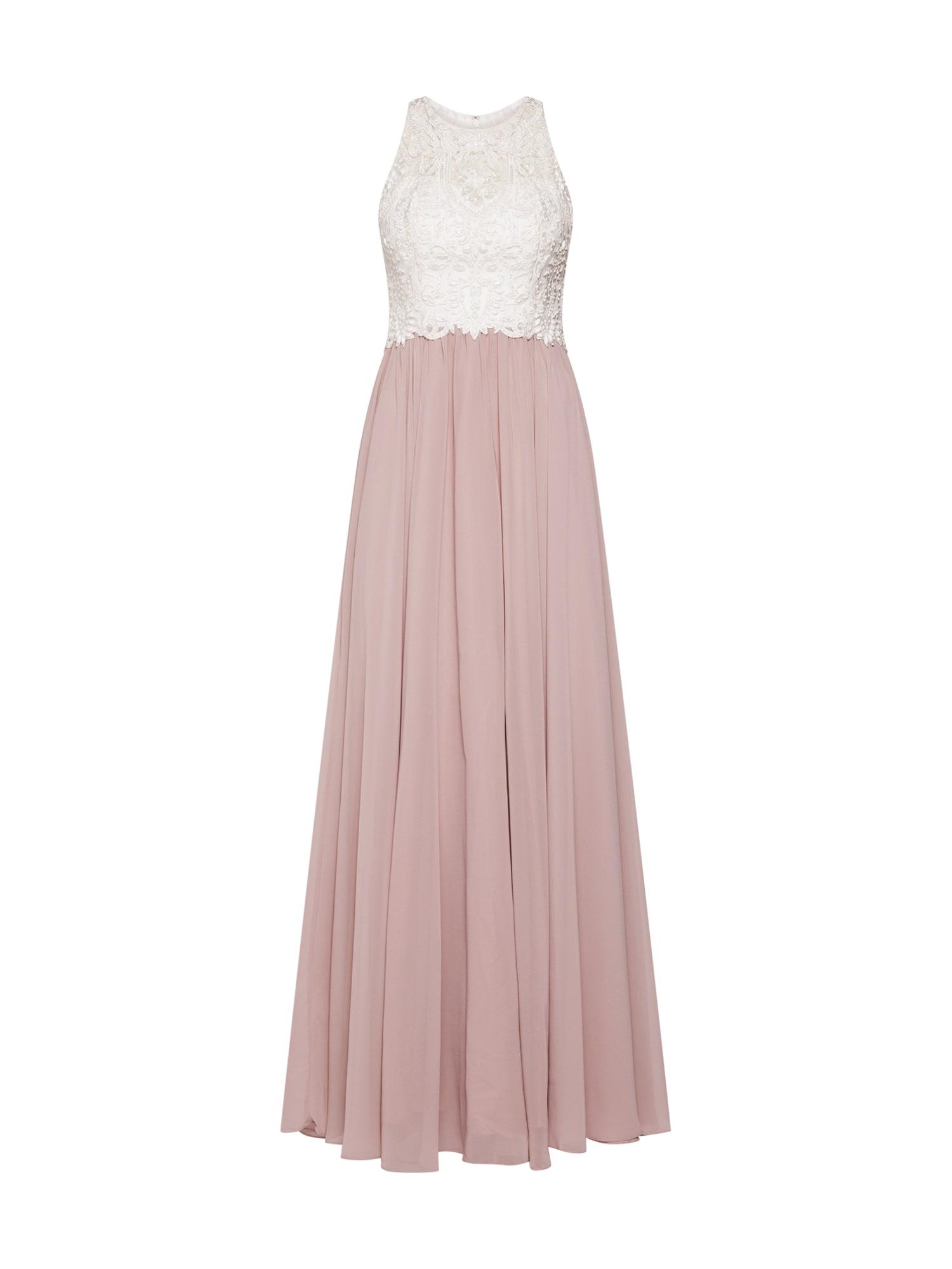 Laona Vakarinė suknelė ryškiai rožinė spalva / balkšva