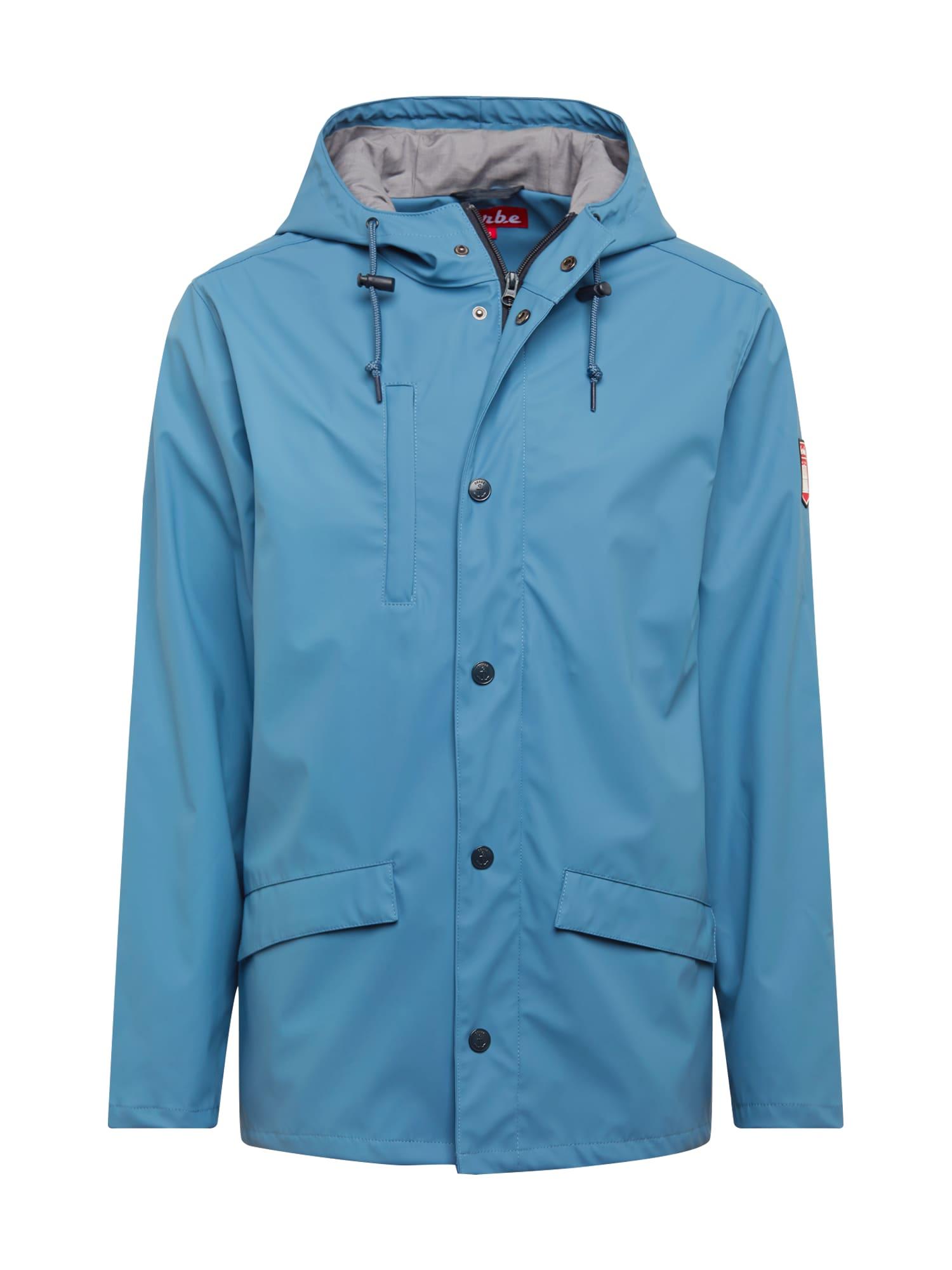 Derbe Ilga rudeninė-žieminė striukė 'Passenger 2.0' pilko džinso / mėlyna dūmų spalva