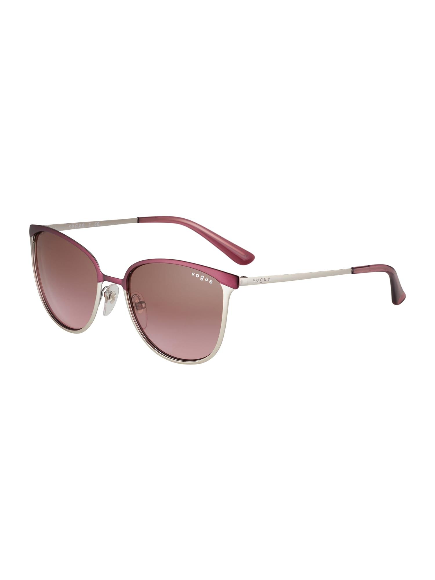 VOGUE Eyewear Slnečné okuliare  strieborná / fialová