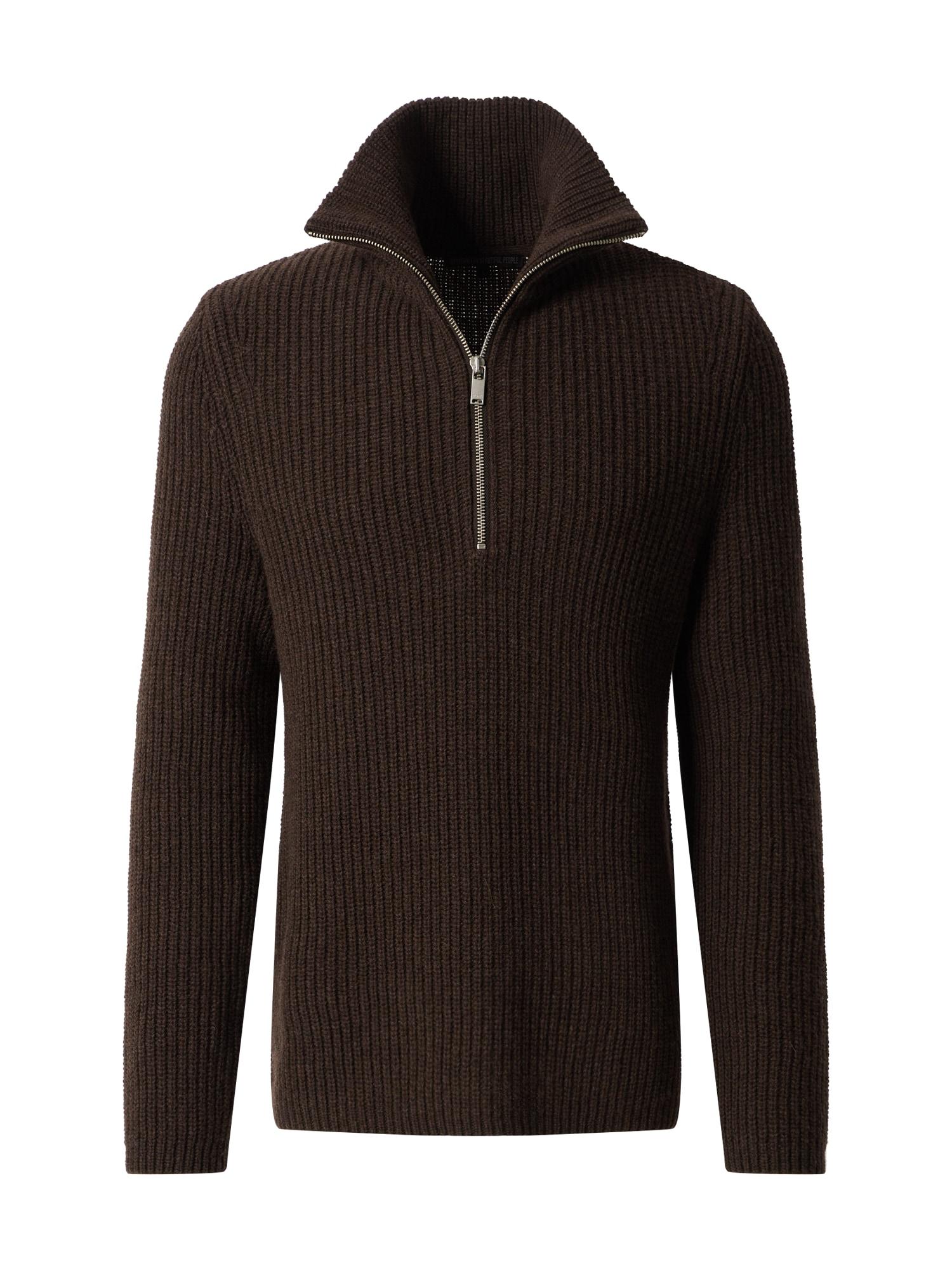 DRYKORN Megztinis 'SAID' tamsiai ruda