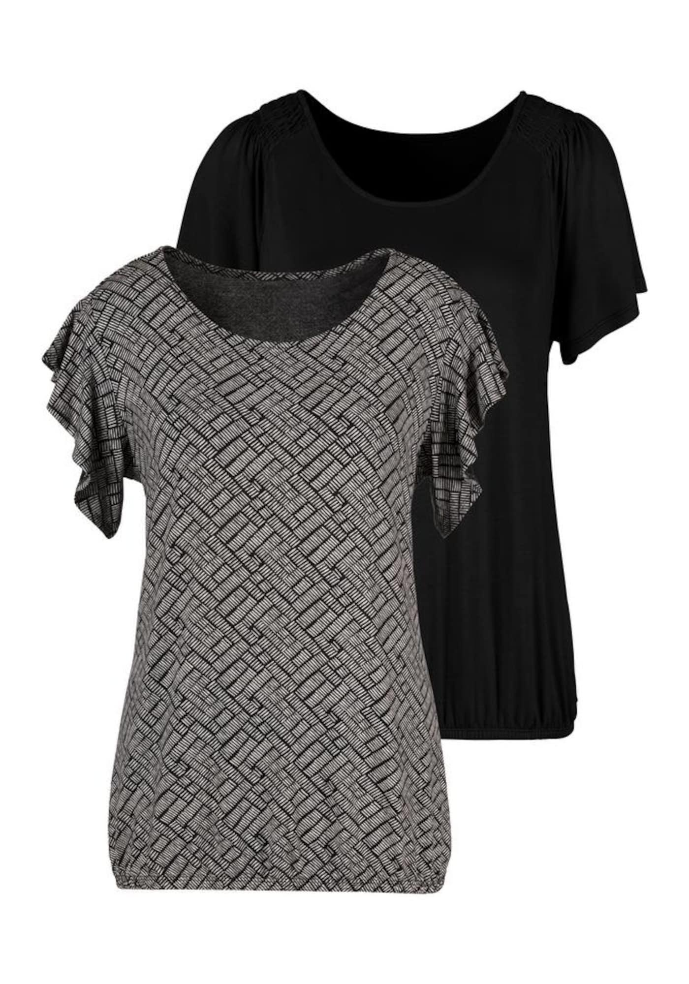 VIVANCE Marškinėliai juoda / balta