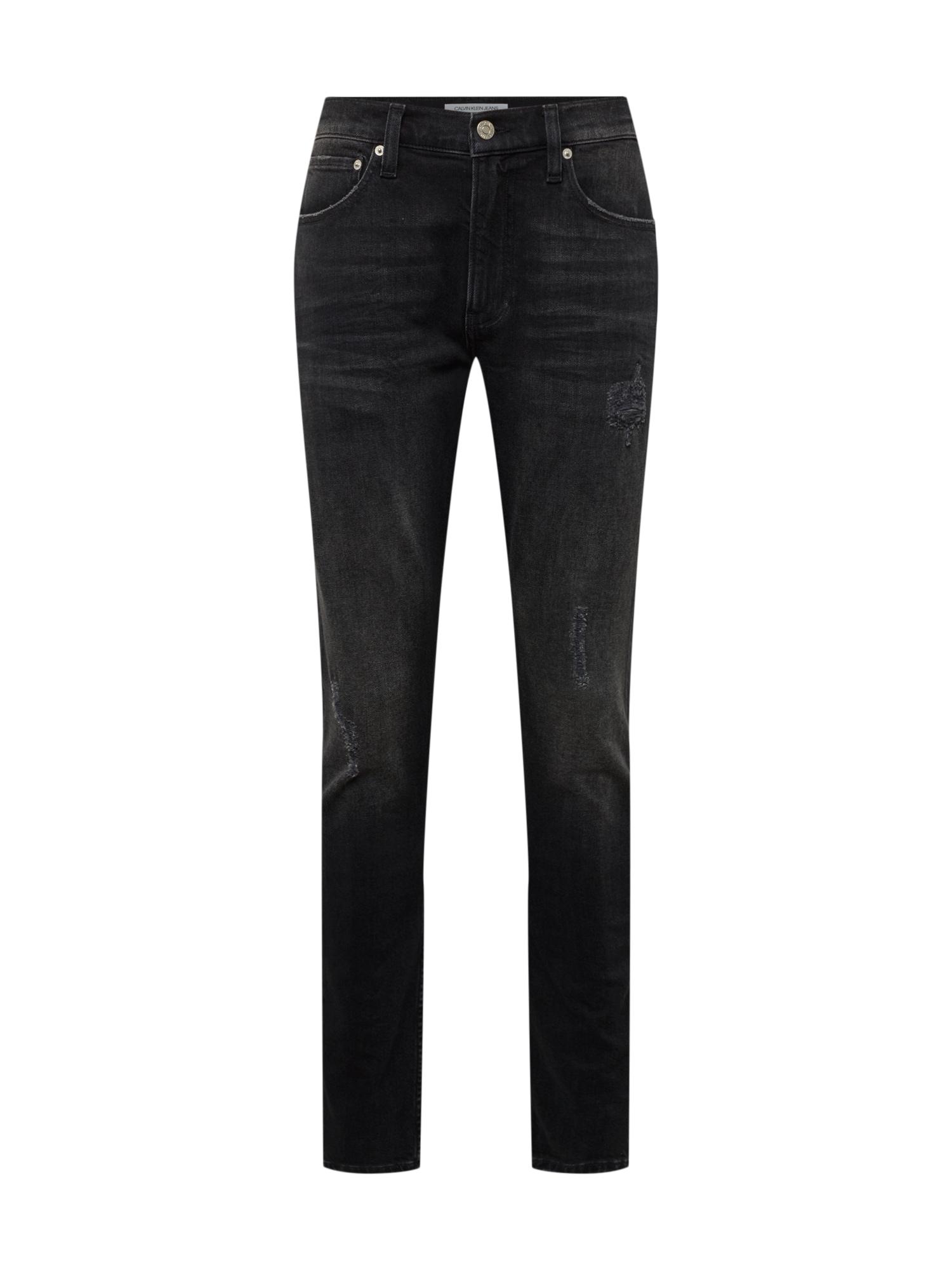 Džíny 058 SLIM TAPER černá džínovina Calvin Klein Jeans