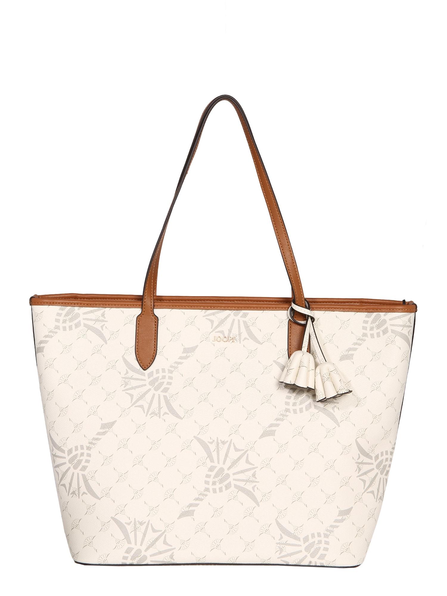 JOOP! Pirkinių krepšys karamelės / balta / pilka