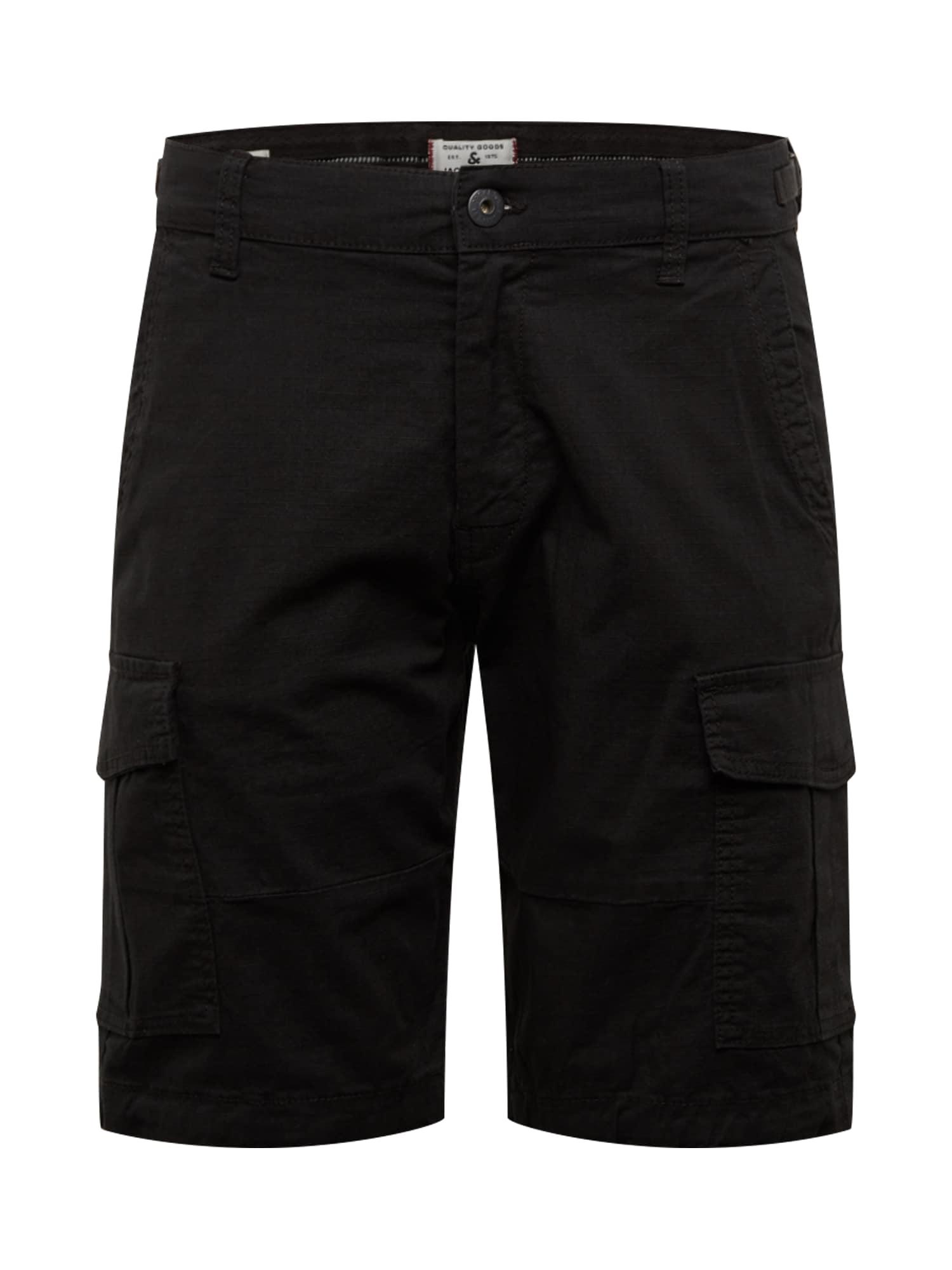 JACK & JONES Laisvo stiliaus kelnės 'Alfa' juoda