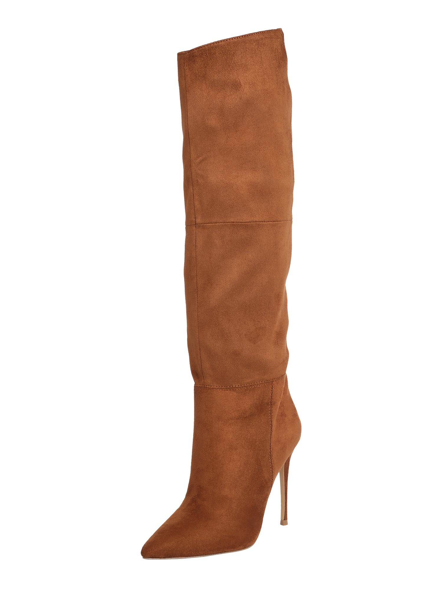 STEVE MADDEN Ilgaauliai batai virš kelių ruda