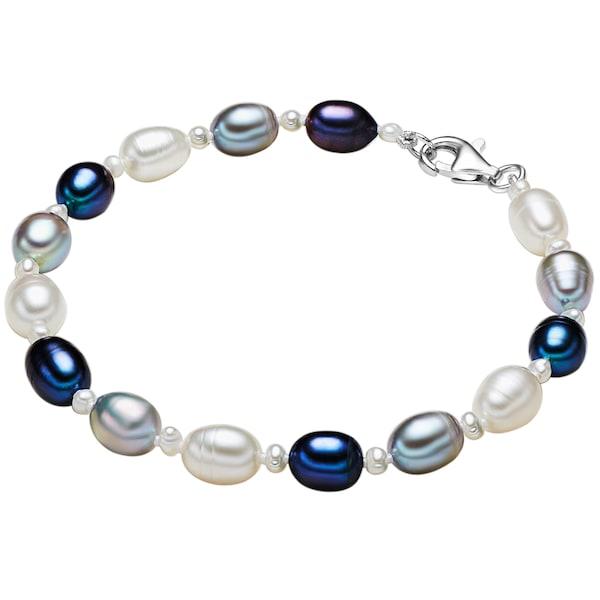 Armbaender für Frauen - Valero Pearls Armband mit Süßwasser Zuchtperlen enzian weiß  - Onlineshop ABOUT YOU
