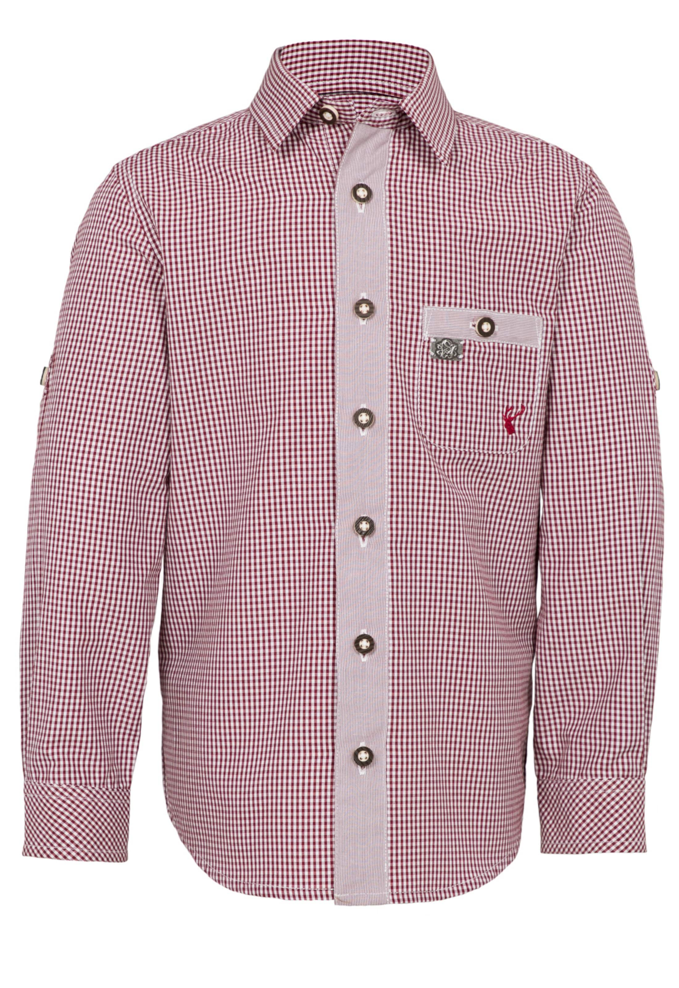 Jungen,  Kinder,  Kinder SPIETH & WENSKY Trachtenhemd 'Falke' rot,  weiß | 04059829106581