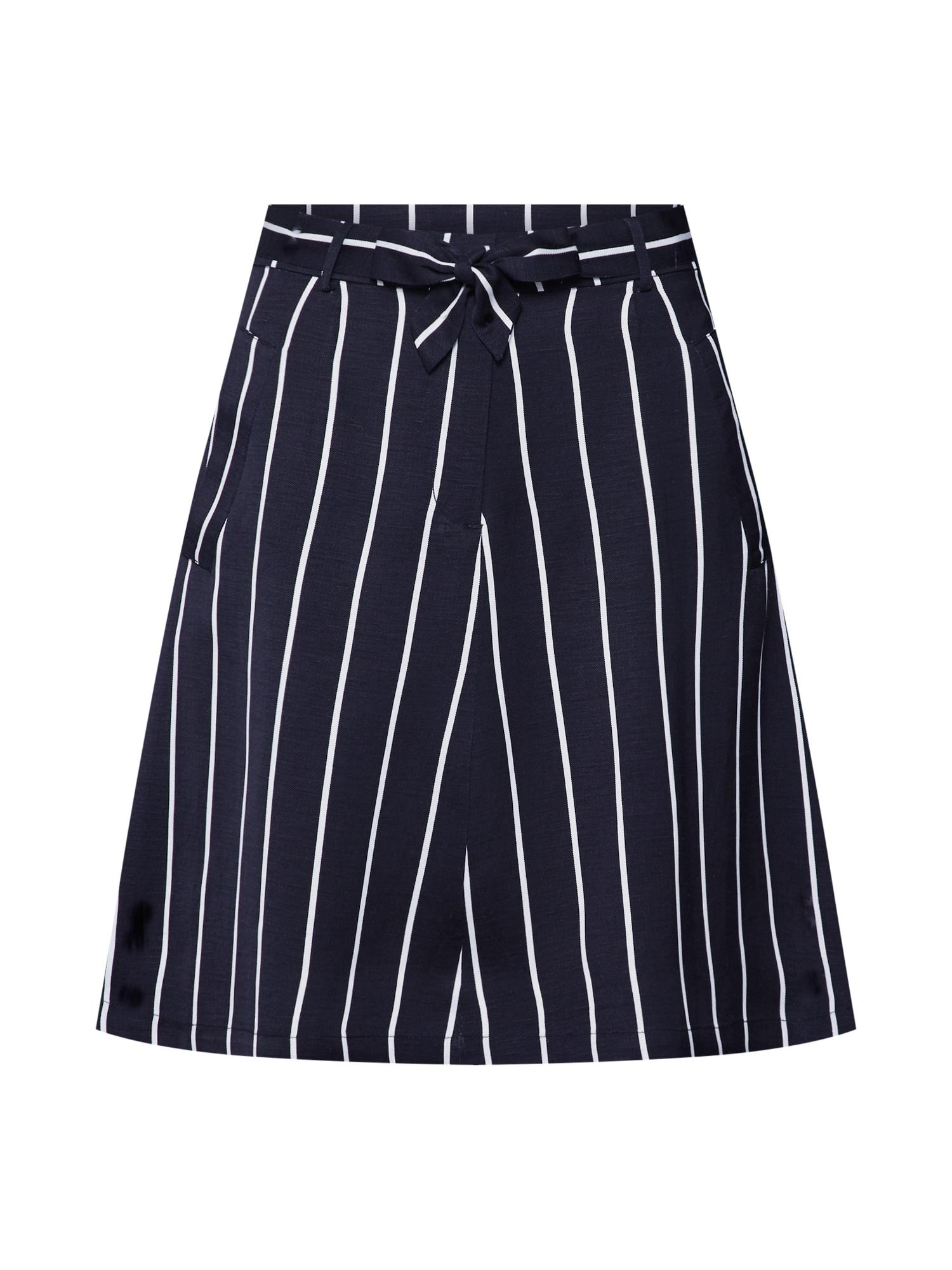 Sukně Striped Linen Skirt modrá Pop Copenhagen