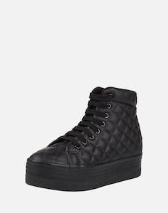 High Sneaker mit Plateau