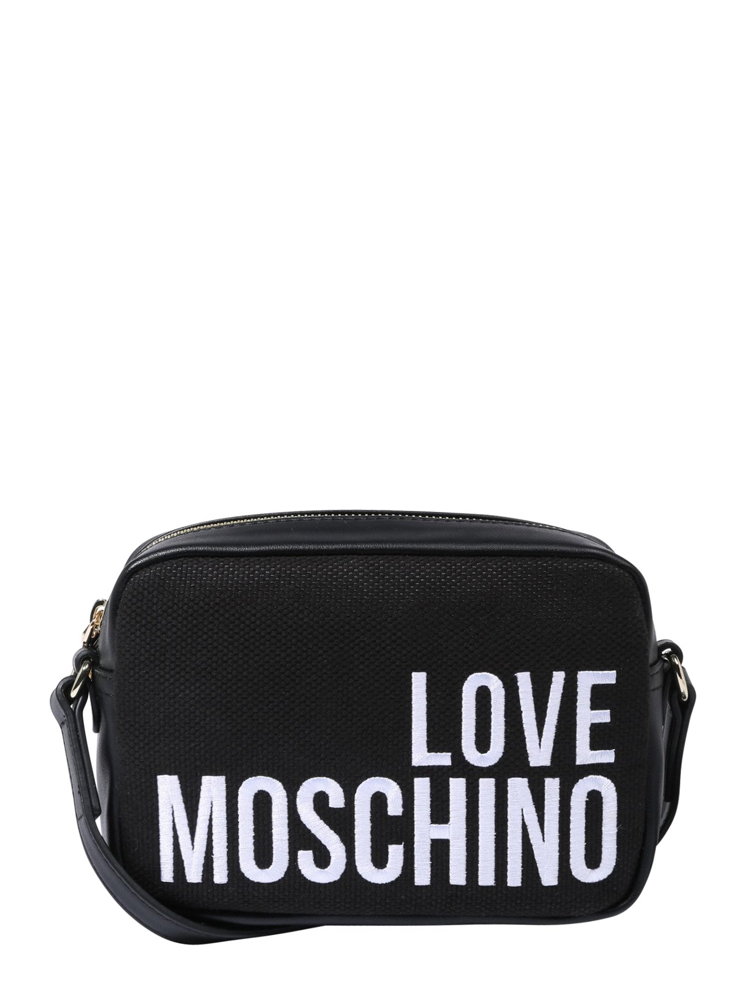 Taška přes rameno černá bílá Love Moschino