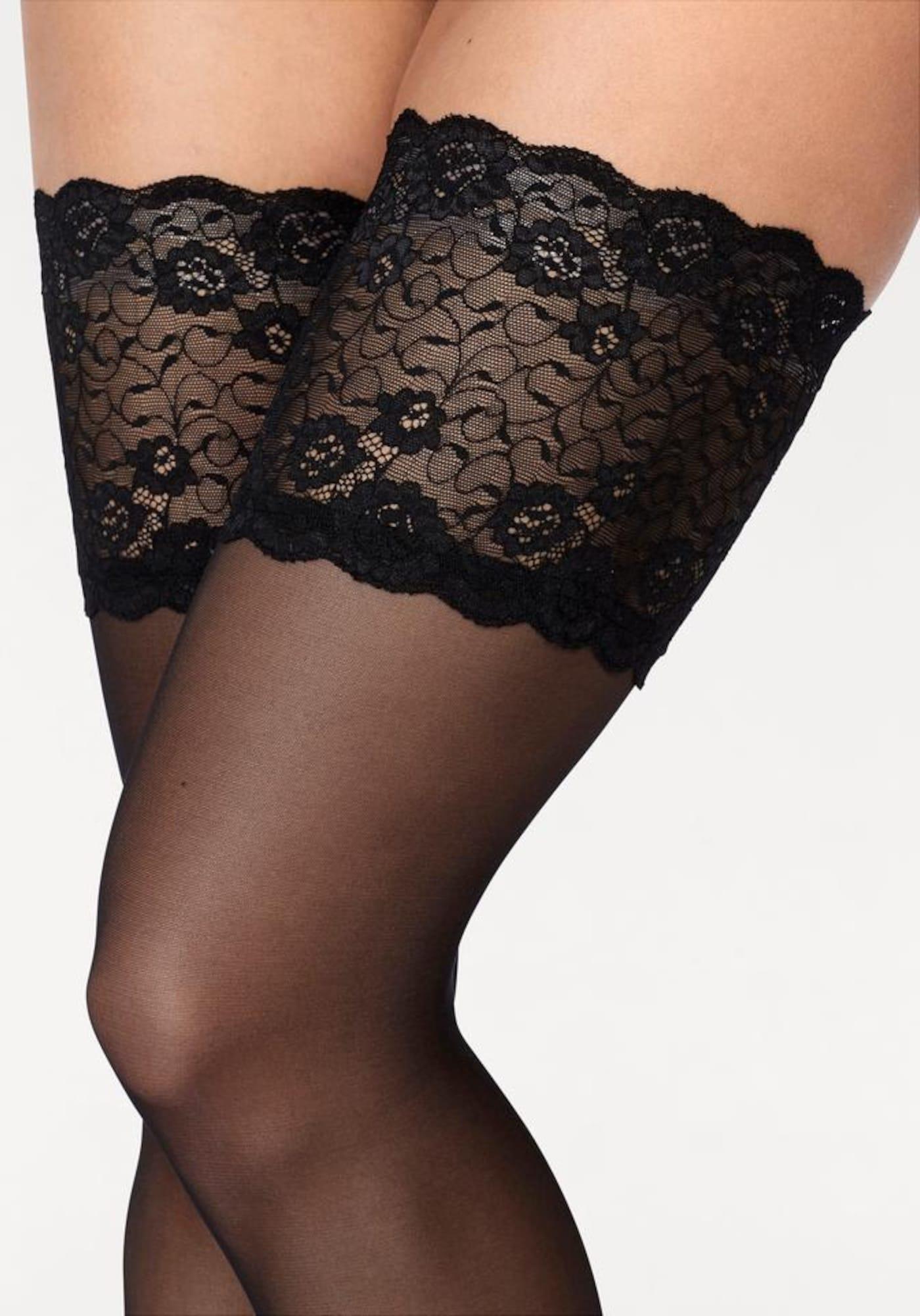 LASCANA Madingos prisegamos kojinės '20 DEN' juoda